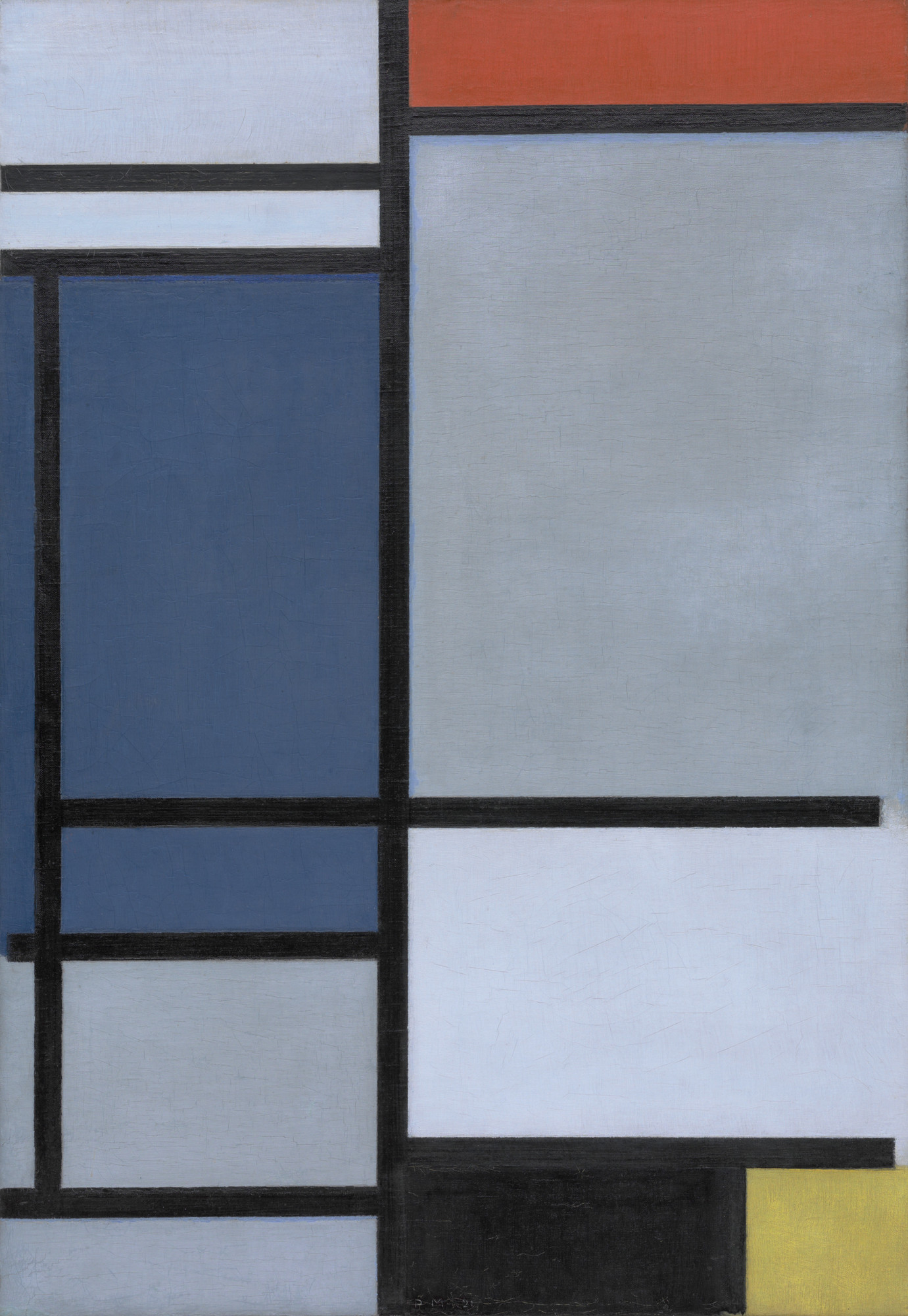 Piet Mondrian Composition With Red Blue Black Yellow And Gray 1921