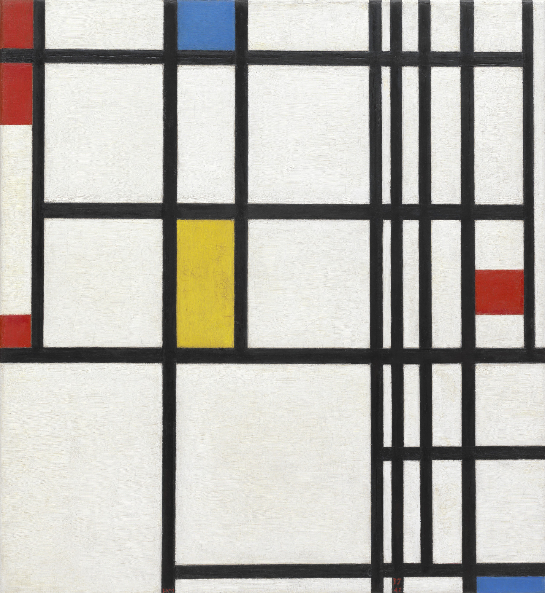 Piet Mondrian. Composition in Red, Blue, and Yellow. 1937-42