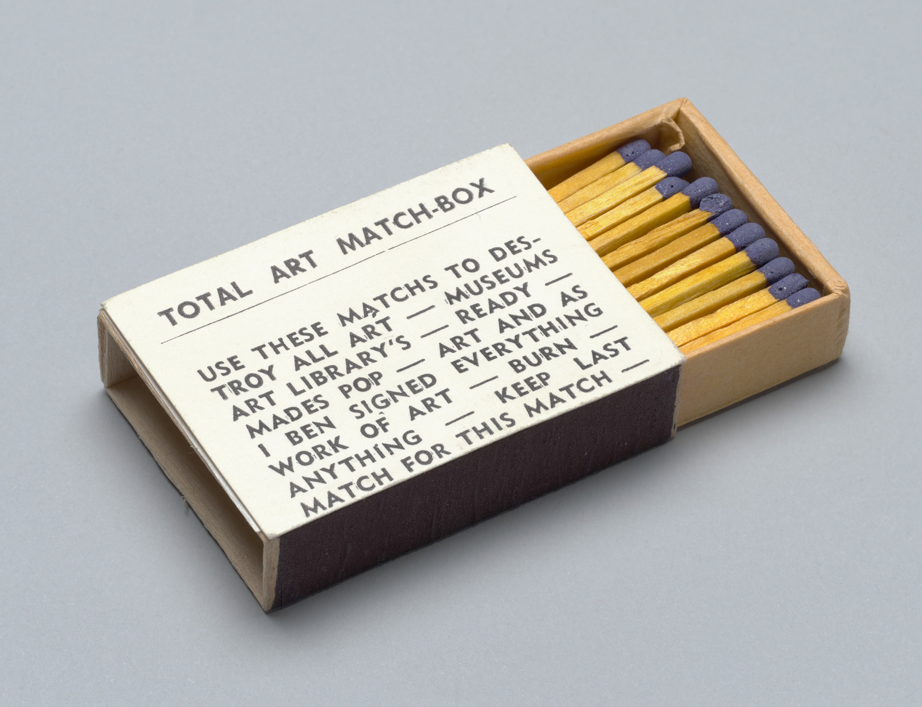 Ben Vautier. Total Art Match-Box. c. 1965