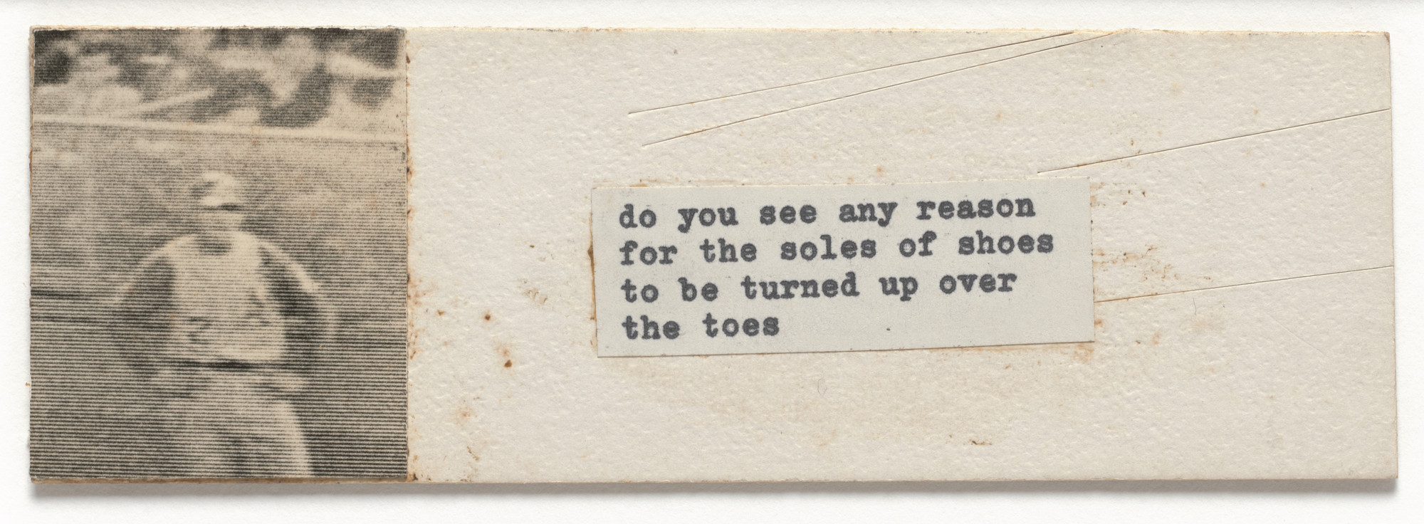 Robert Watts. Mechanical for Do You See Any Reason for the Soles of Shoes to Be Turned up over the Toes. c. 1962–63