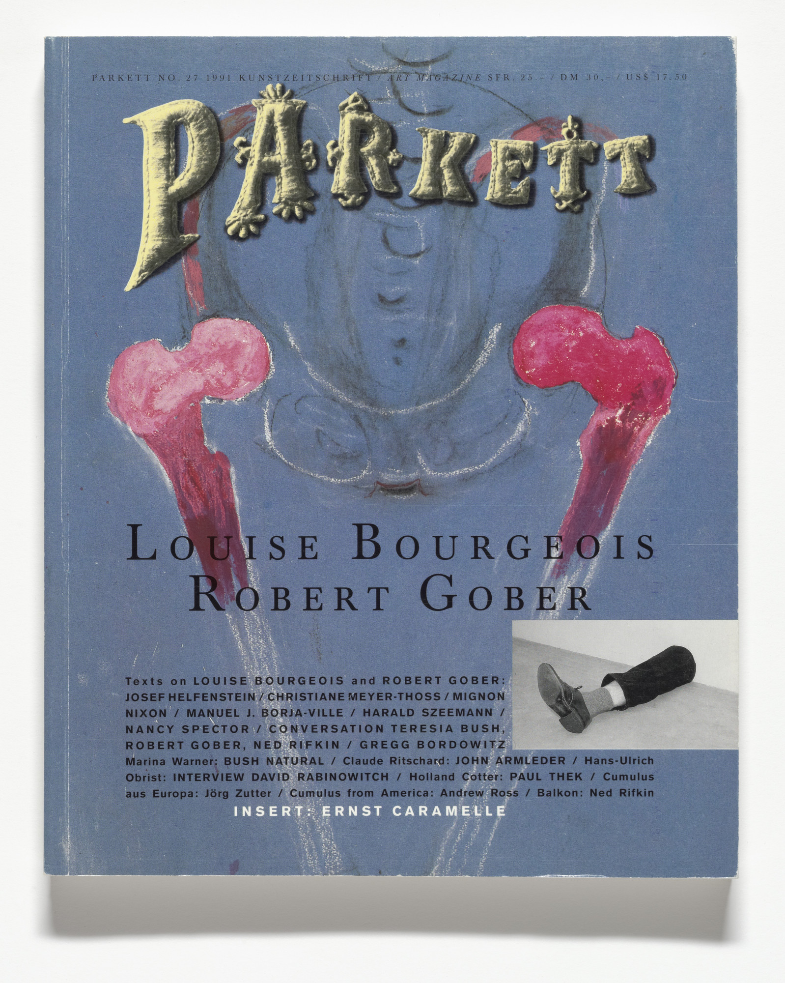 Various Artists, Louise Bourgeois, Ernst Caramelle, Robert Gober, André Thomkins. Parkett no. 27. 1991