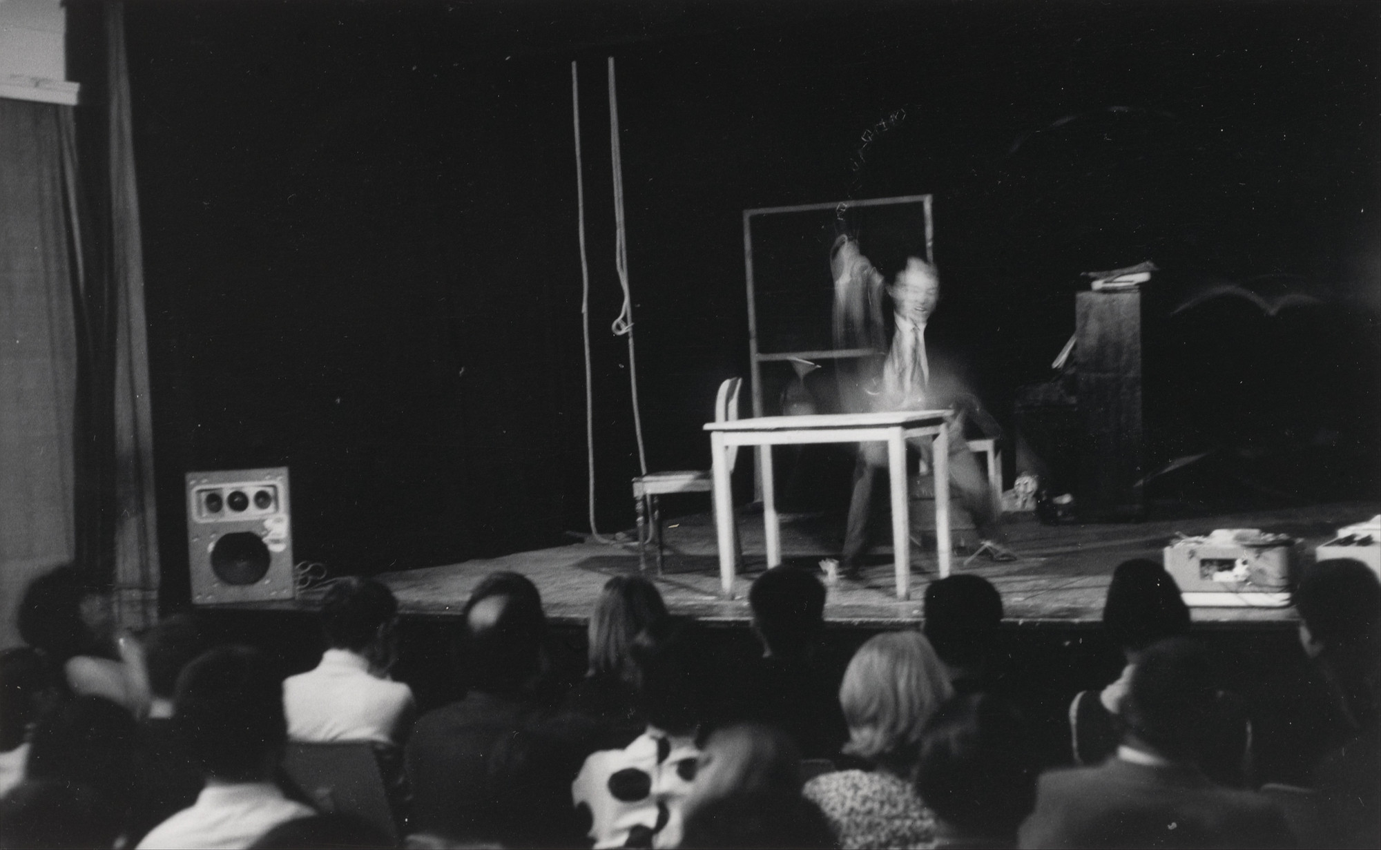 Nam June Paik. Nam June Paik's One for Violin, performed during Neo-Dada in der Musik, Kammerspiele, Düsseldorf, June 16, 1962. 1962, printed 1977