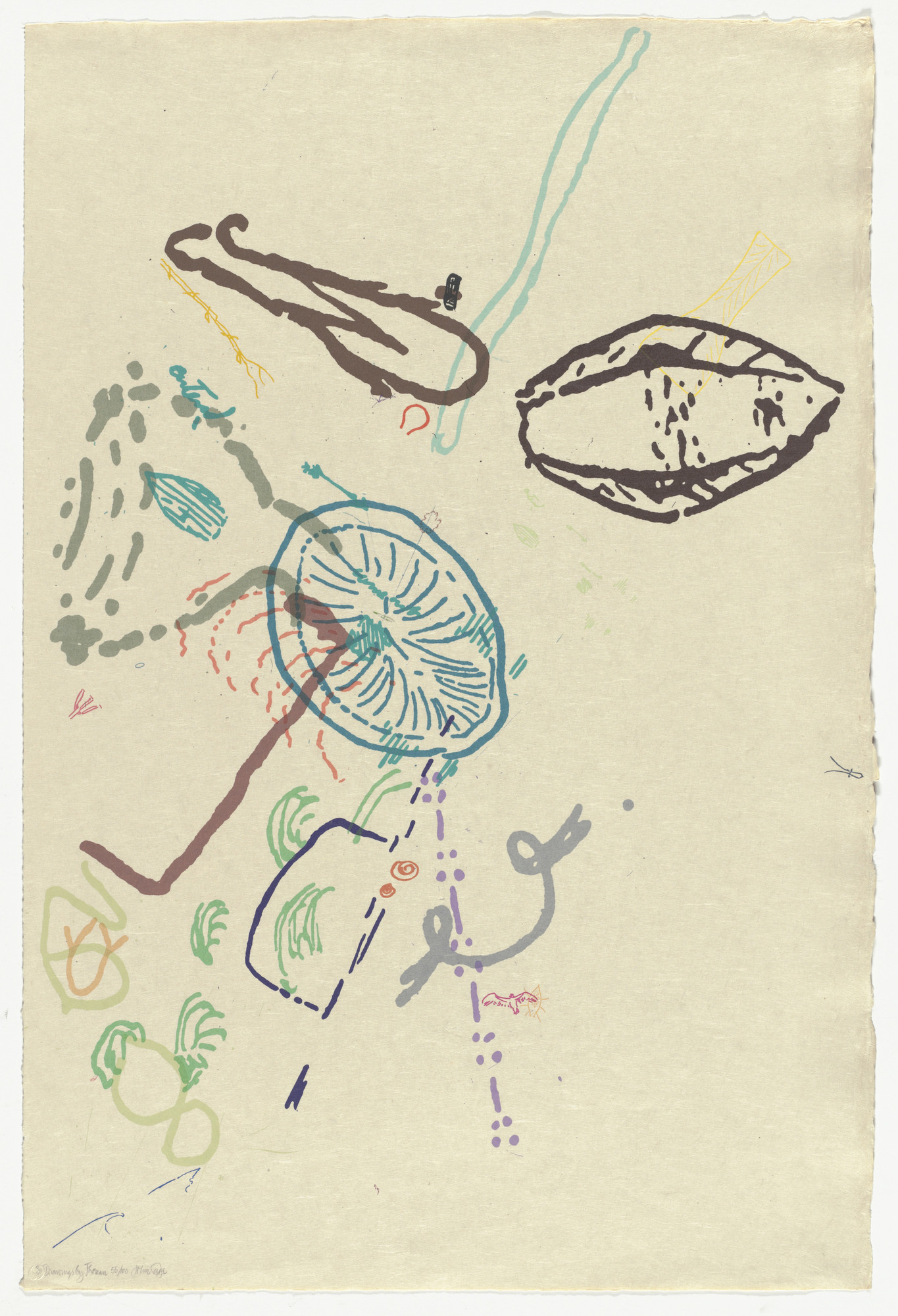 John Cage. 30 Drawings by Thoreau from Merce Cunningham Portfolio. 1974, published 1975