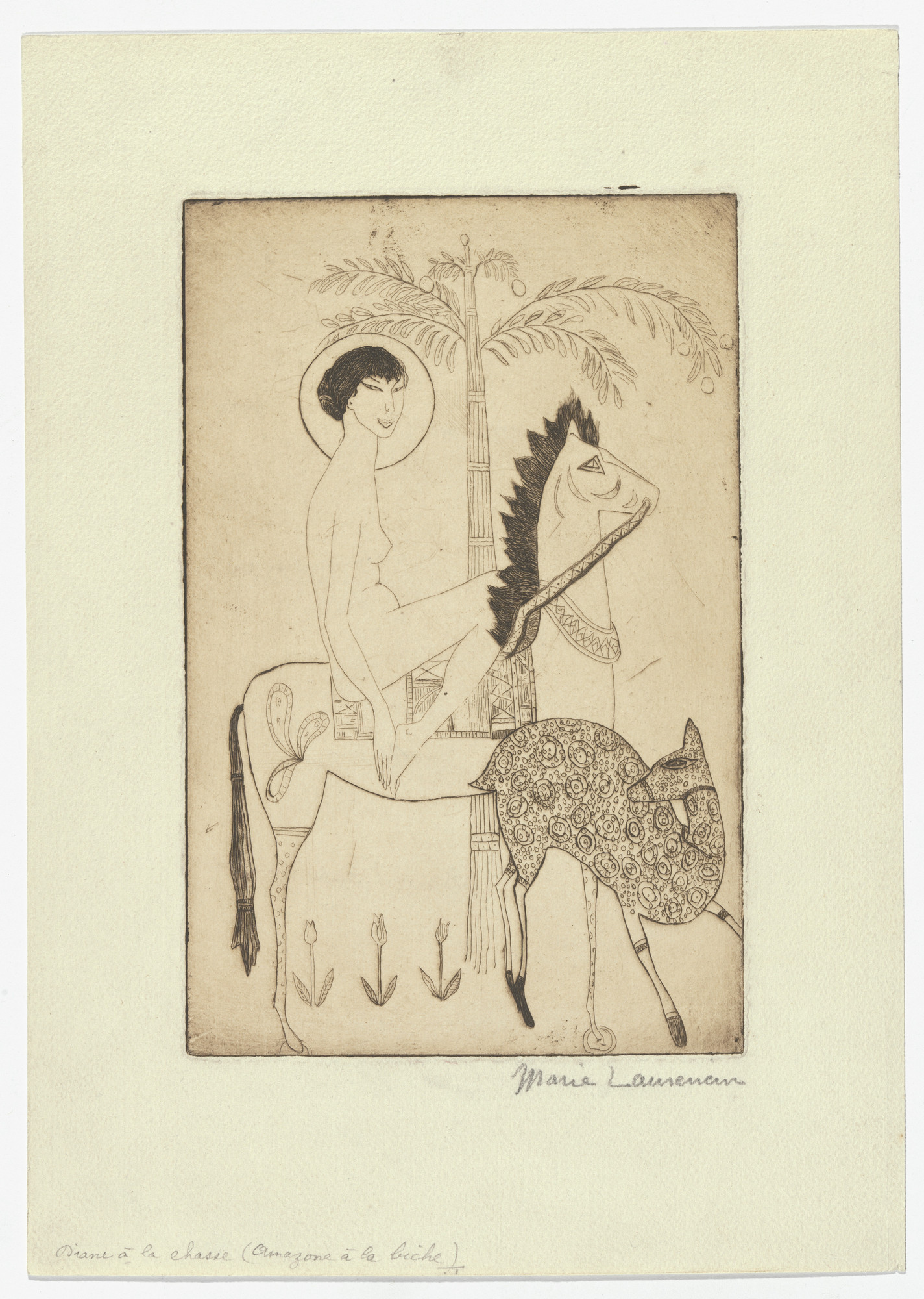 Marie Laurencin. Diana of the Hunt (Diane à la chasse). 1920