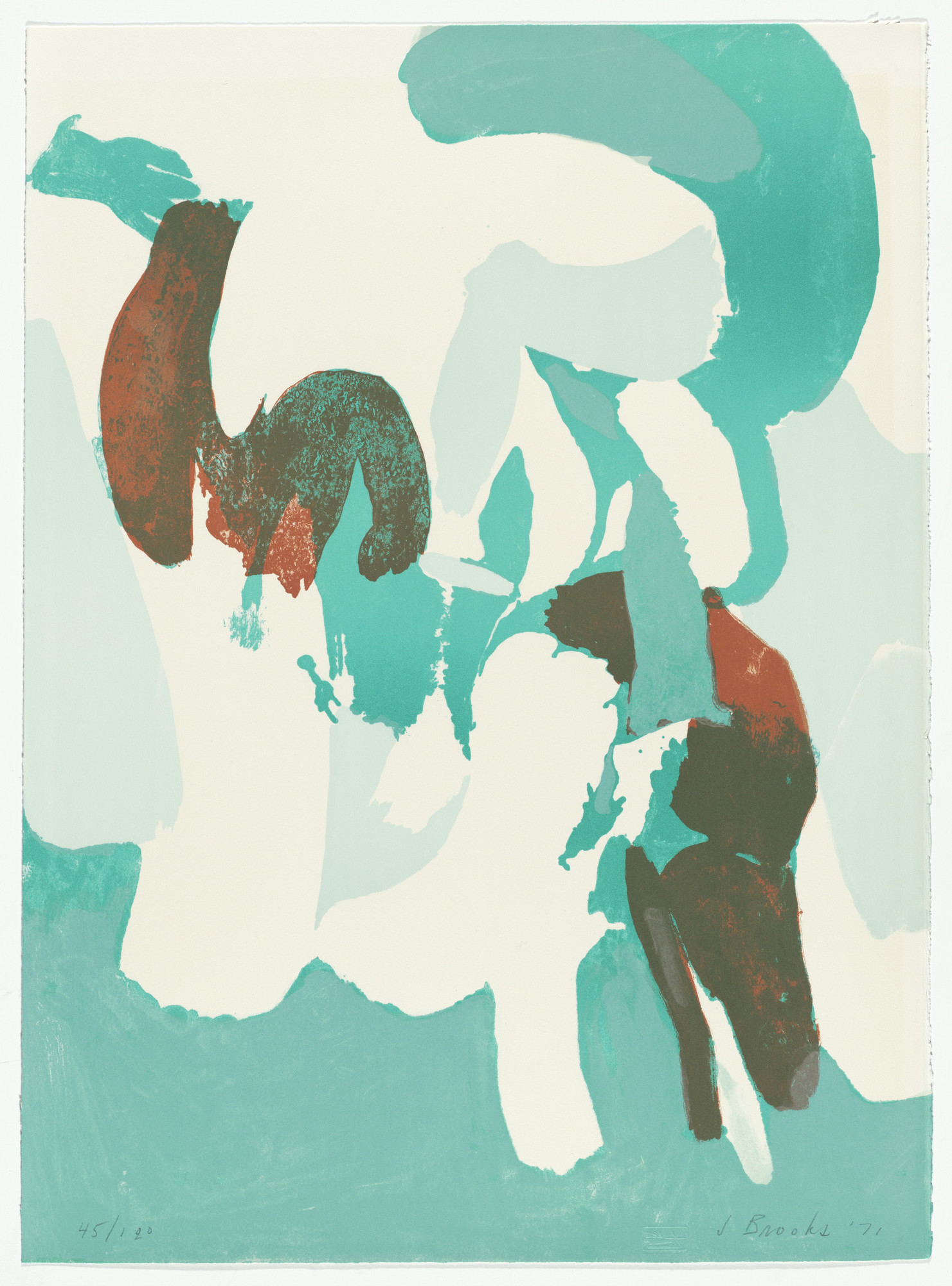 James Brooks. The Springs from Ten Lithographs by Ten Artists. 1971