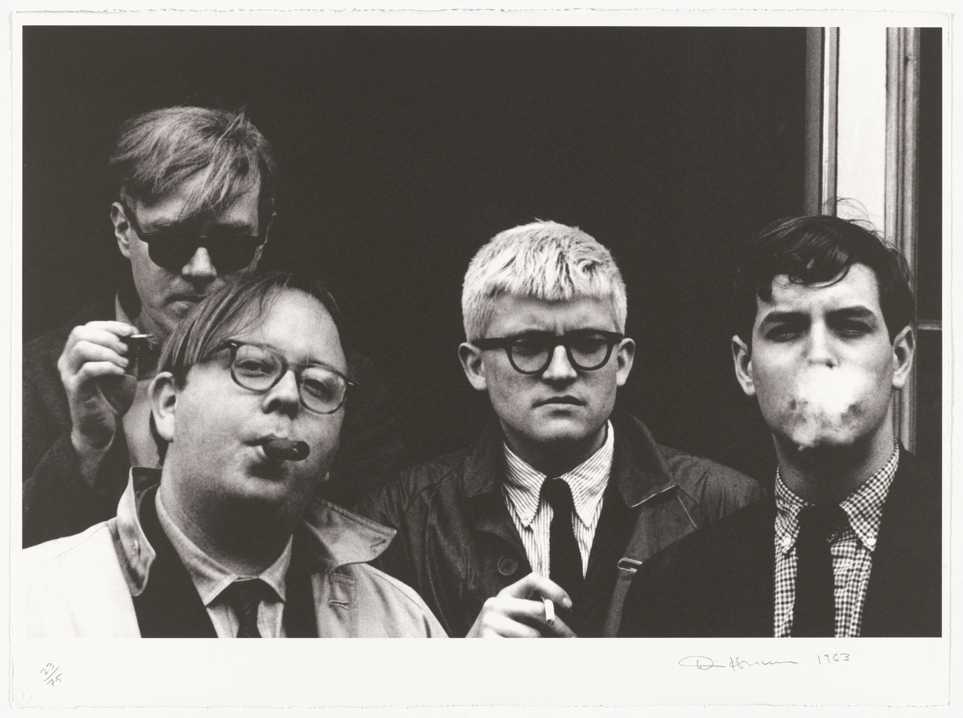 "Dennis Hopper. Andy Warhol, David Hockney, Henry Geldzahler and Jeff Goodman from ""Out of the 60's"" from The Geldzahler Portfolio. 1997, published 1998"