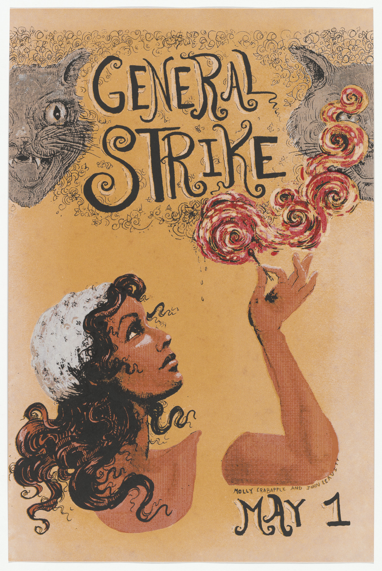 Molly Crabapple. General Strike Match from Occuprint Portfolio. 2012