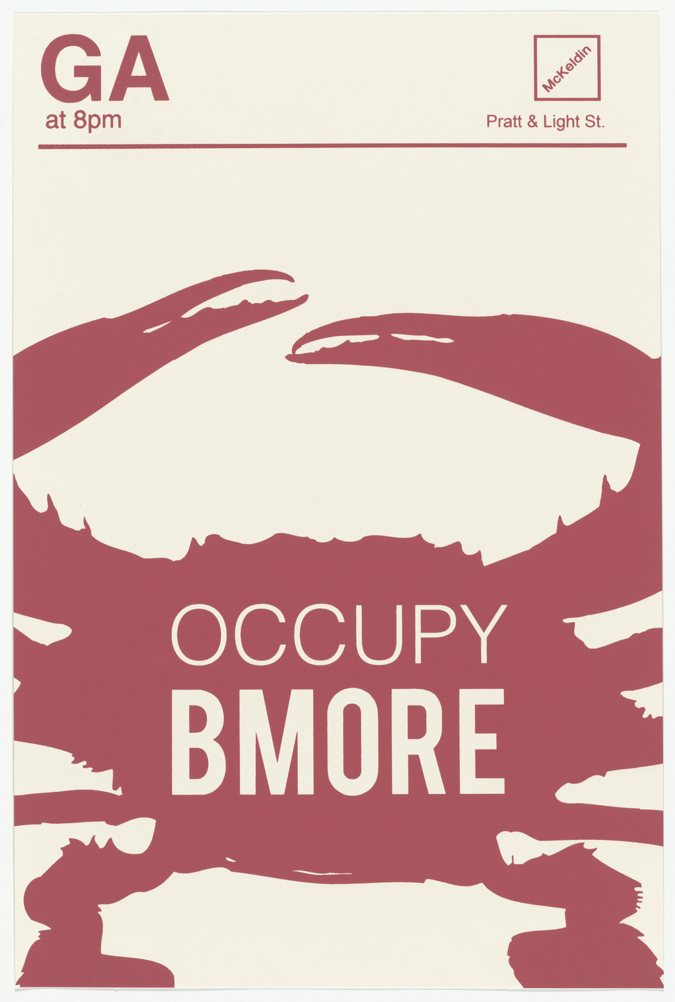 Keith Lowe. Occupy Baltimore from Occuprint Portfolio. 2012