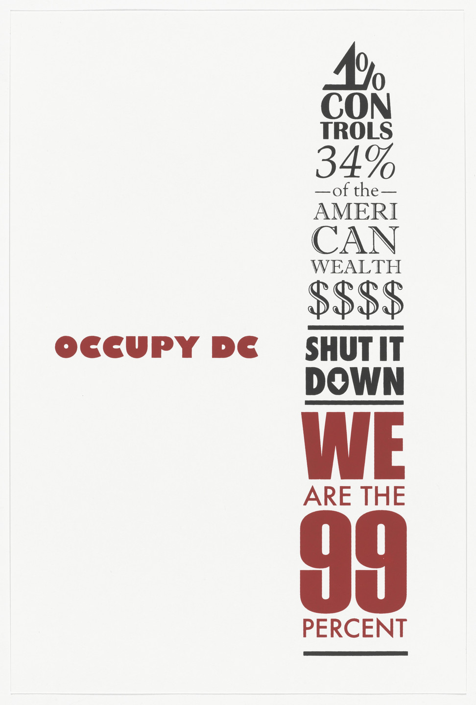 Anthony Nomorosa. Occupy DC from Occuprint Portfolio. 2012