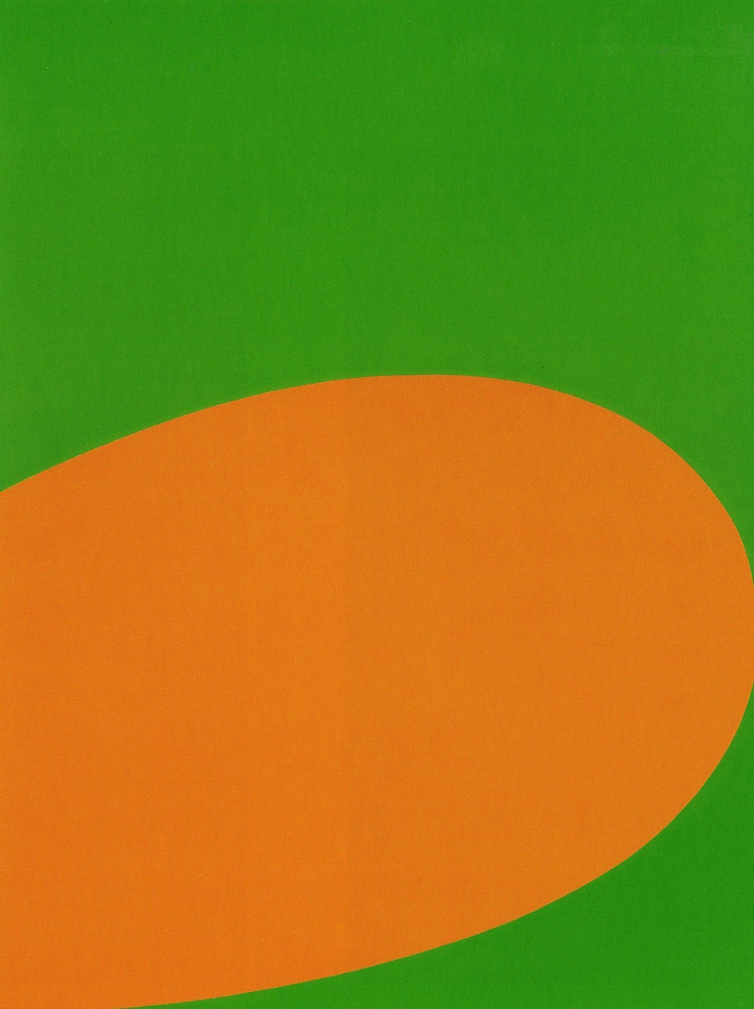 Ellsworth Kelly. Orange Green. 1964