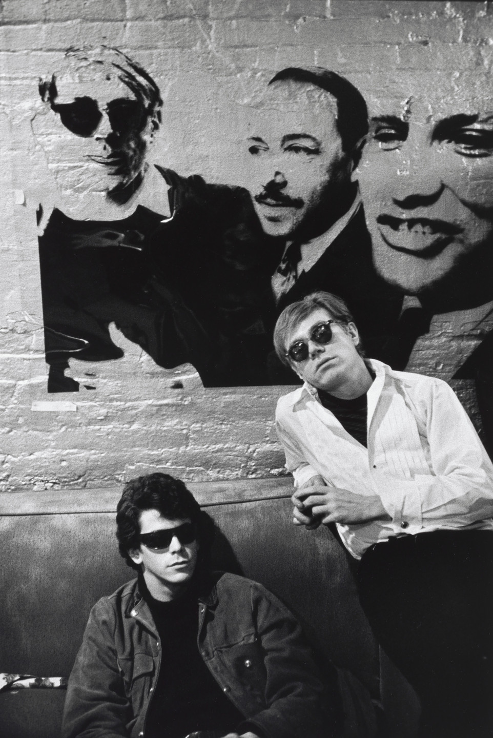 Stephen Shore. Lou Reed and Andy Warhol, the Factory, New York, New York. 1966–1967