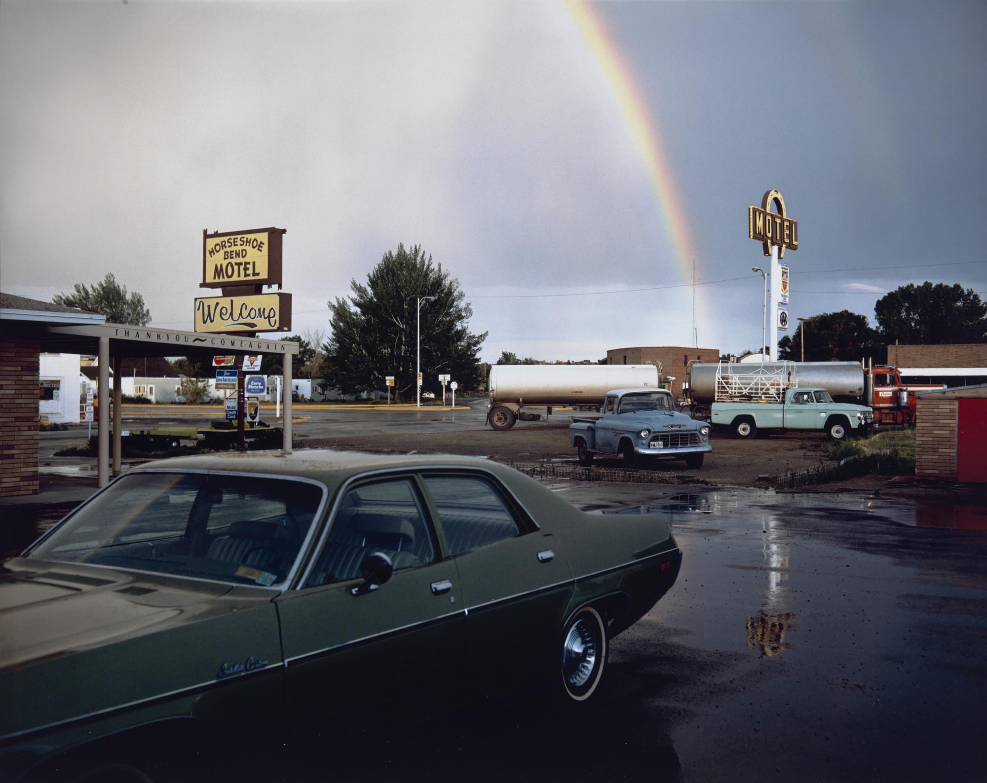 Stephen Shore Horseshoe Bend Motel Lovell Wyoming July