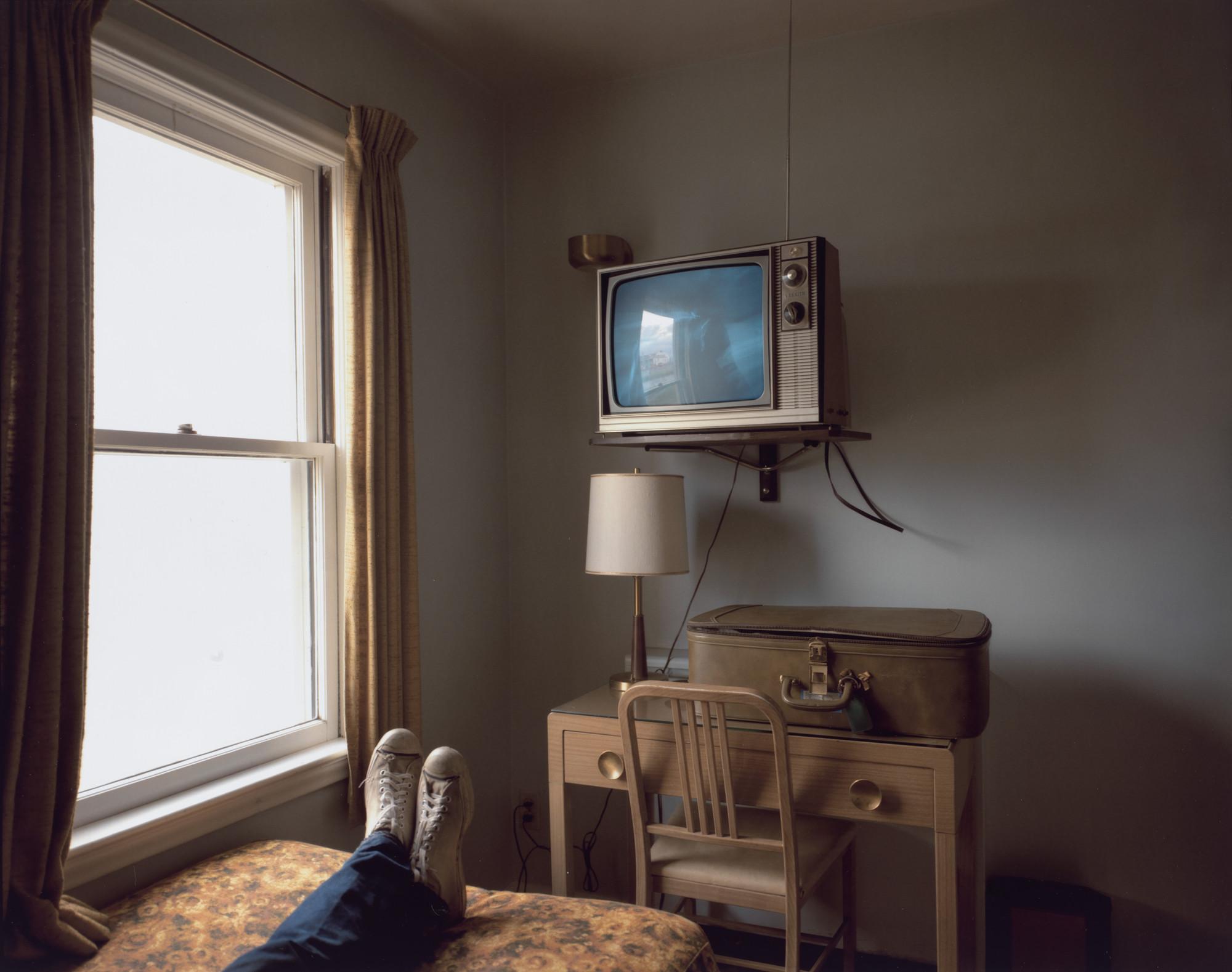 Stephen Shore. Room 125, Westbank Motel, Idaho Falls, Idaho, July 18, 1973. 1973 | MoMA