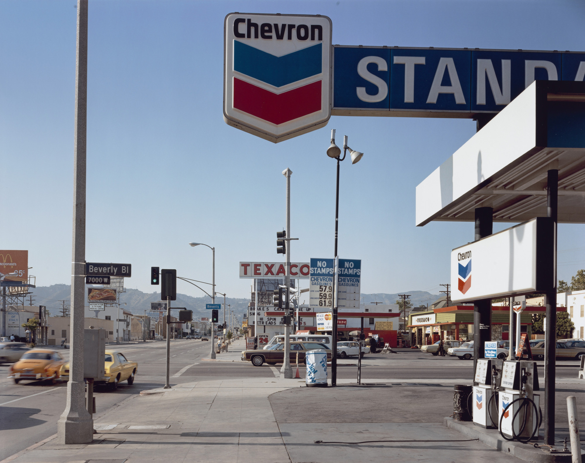 Stephen Shore. Beverly Boulevard and La Brea Avenue, Los Angeles, California, June 21, 1975. 1975