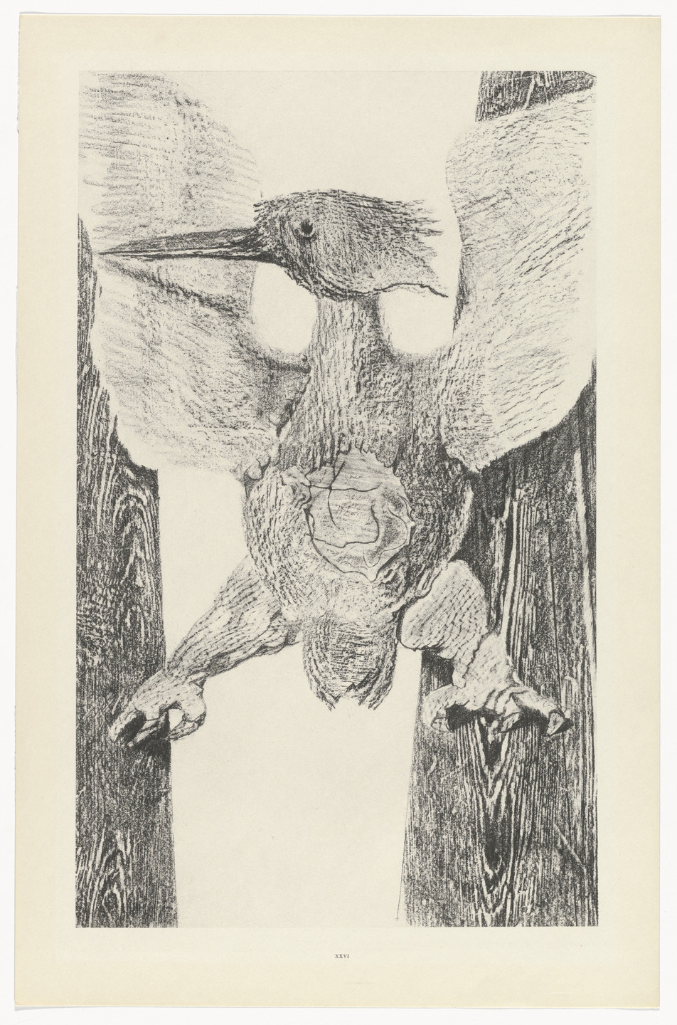 Max Ernst. The Origin of the Clock (L'Origine de la pendule) from Natural History (Histoire naturelle). c. 1925, published 1926