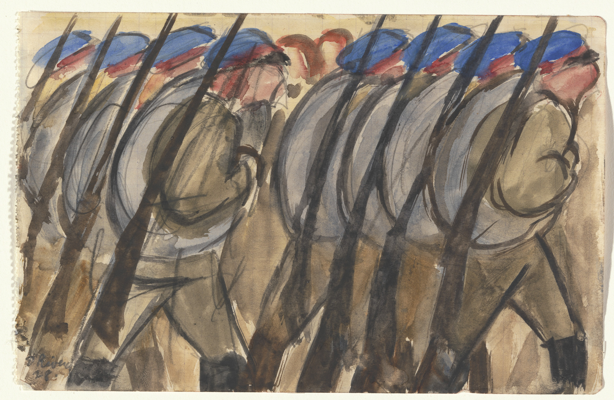 Diego Rivera. May Day, Moscow. 1928 | MoMA