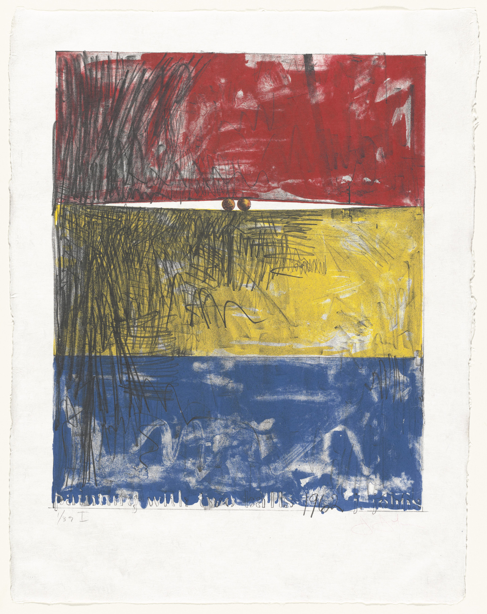 Jasper Johns. Painting with Two Balls I. 1962