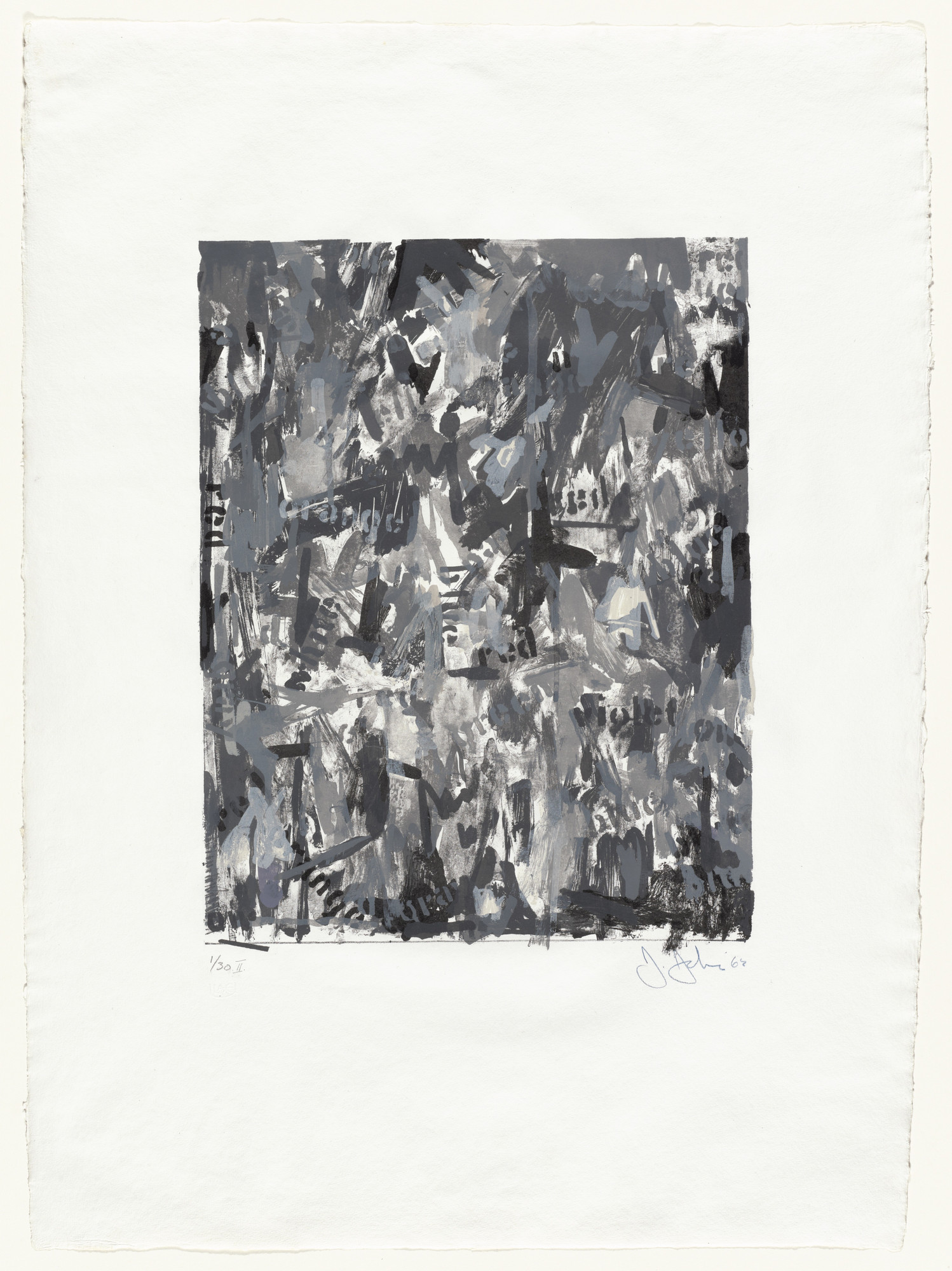 Jasper Johns. False Start II. 1962