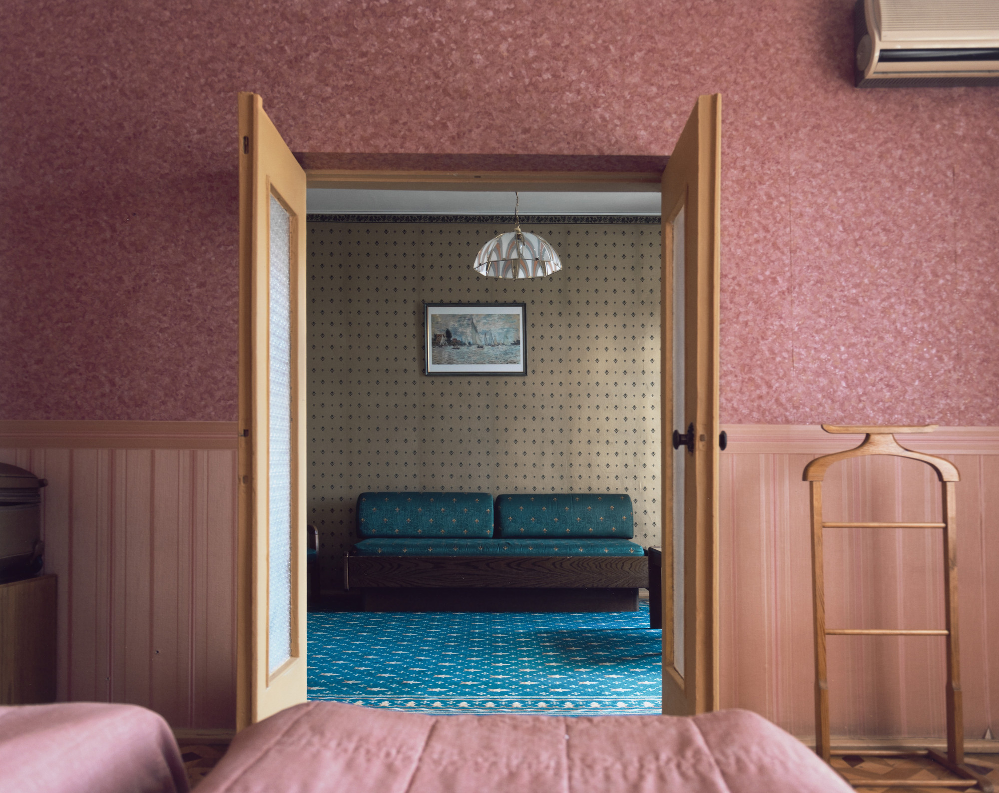 Stephen Shore. Room 509, Dnipro Hotel, Kiev, Kyivska Province, Ukraine, July 18, 2012. 2012