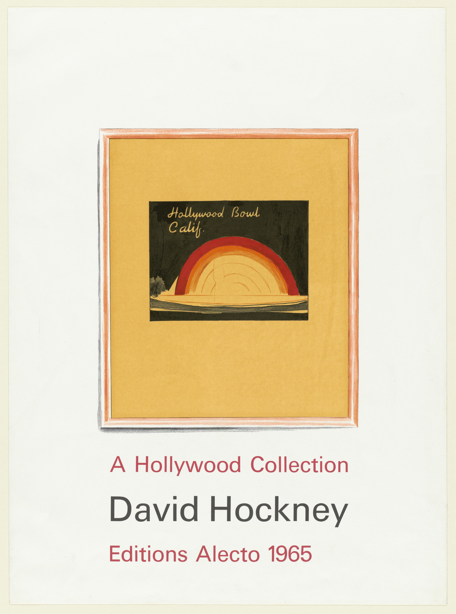 David Hockney. Title page from A Hollywood Collection. 1965