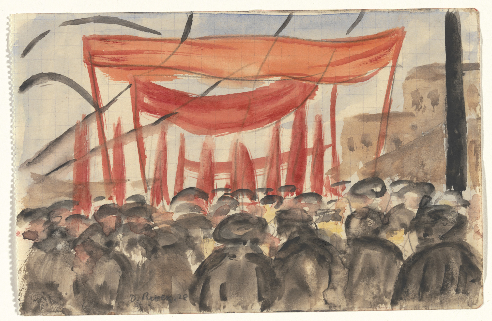Diego Rivera. May Day, Moscow. 1928