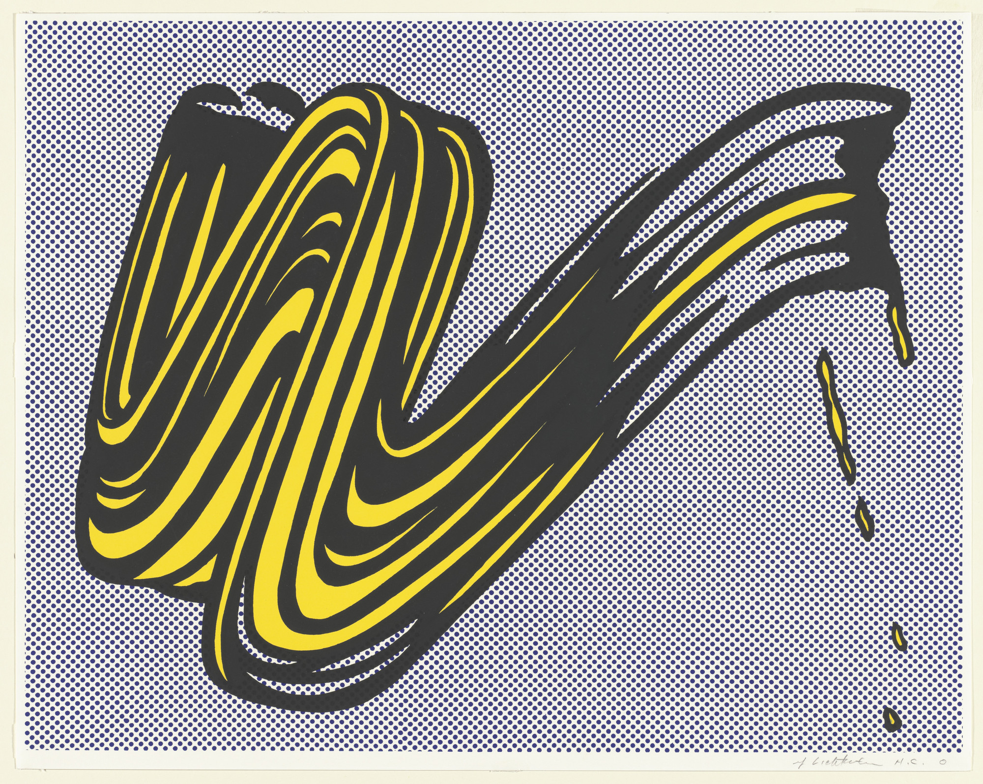 Roy Lichtenstein. Brushstroke. 1965