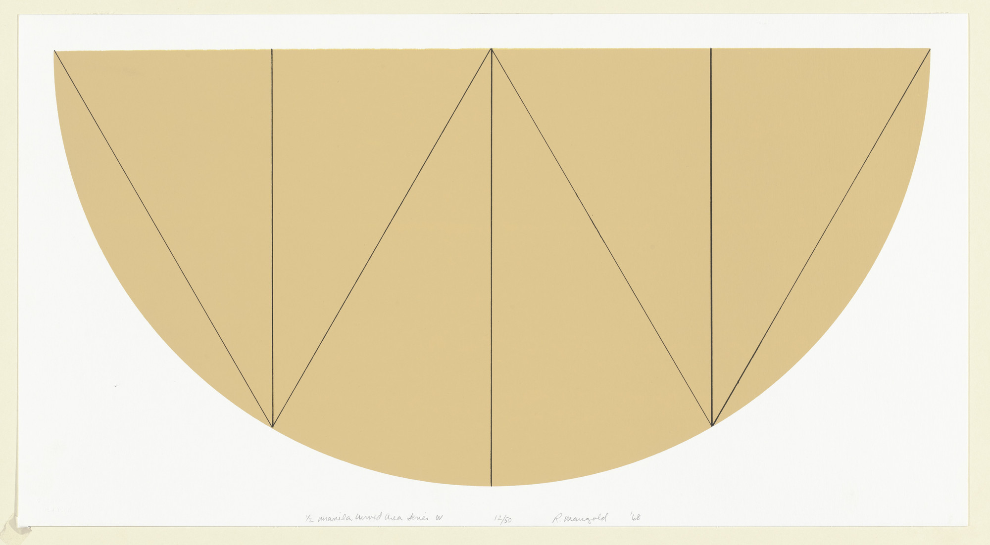 Robert Mangold. 1/2 Manila Curved Area Series W. 1968