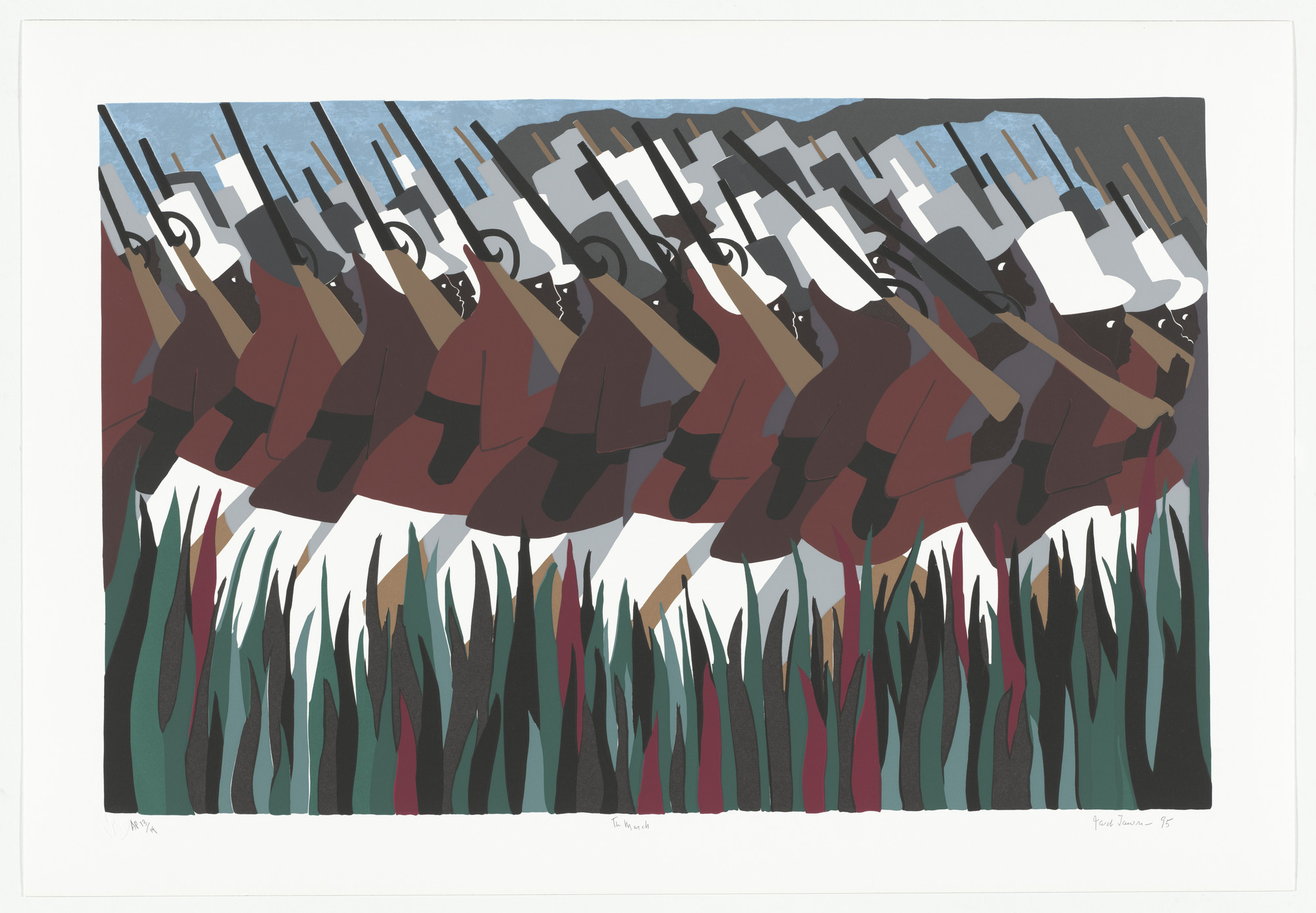 Jacob Lawrence. The March from the series The Life of Toussaint L'Ouverture. 1995