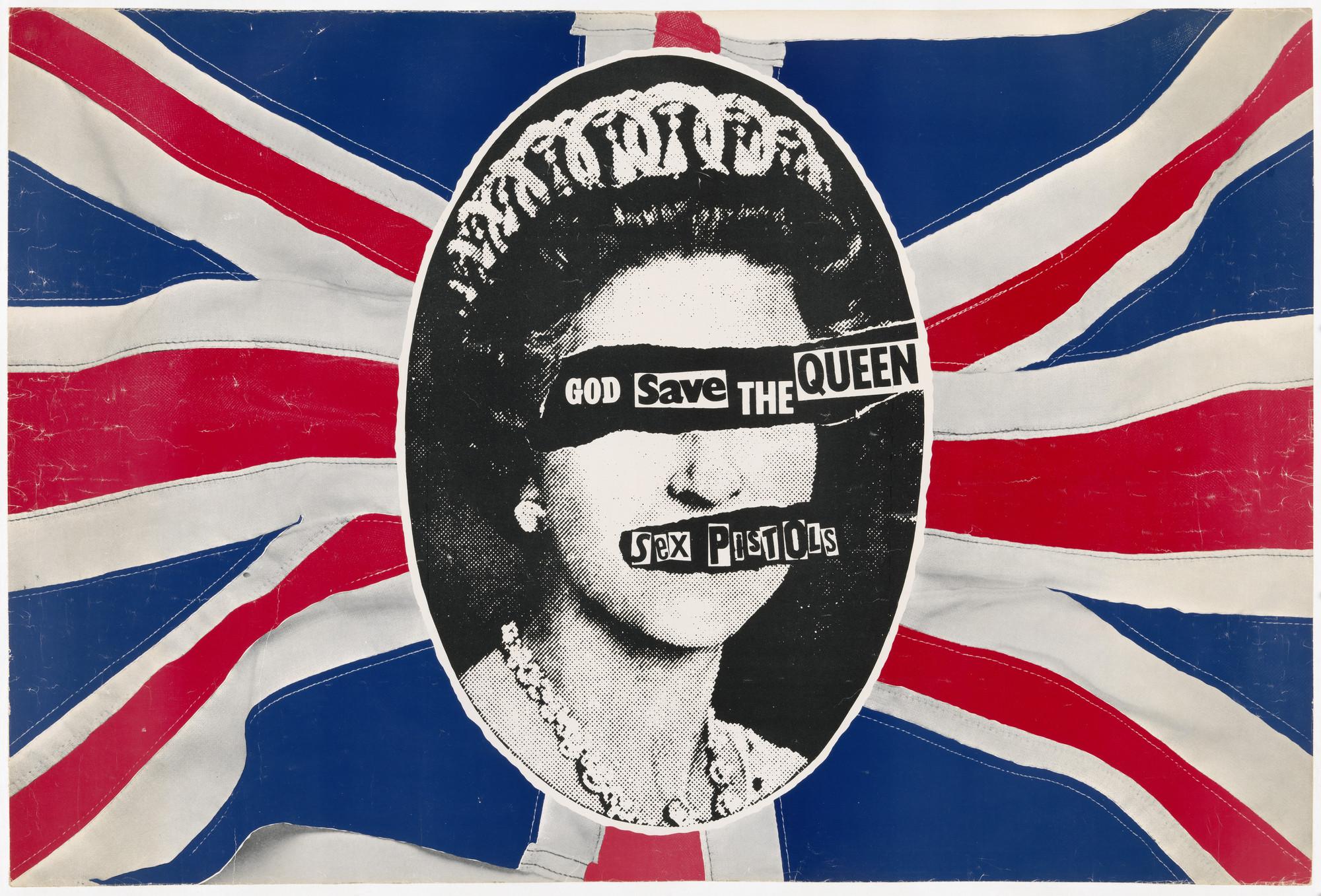 Jamie Reid. Sex Pistols, God Save the Queen. 1977 | MoMA