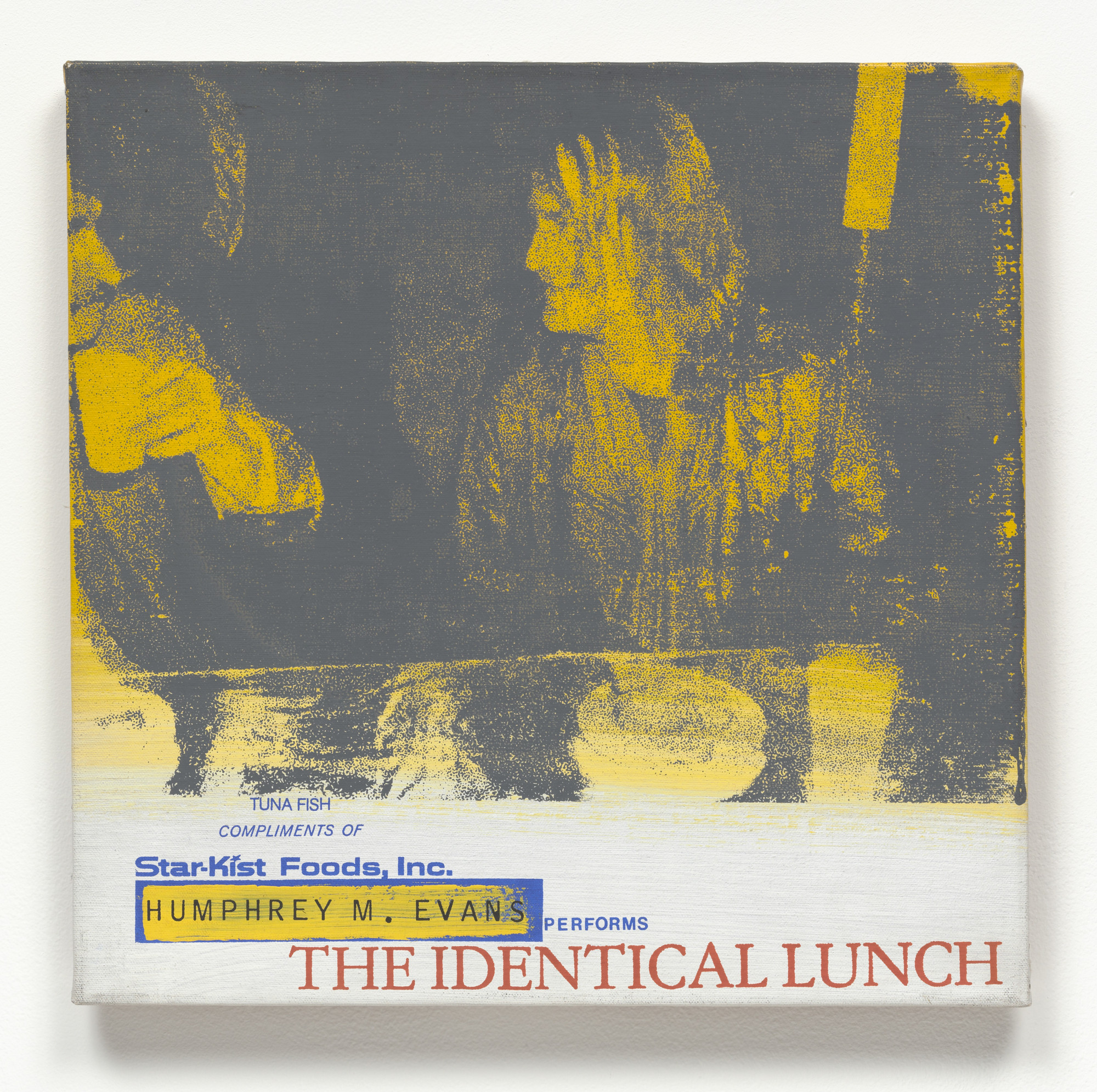 Alison Knowles. Humphrey M. Evans Performs The Identical Lunch. 1969, realized 1973