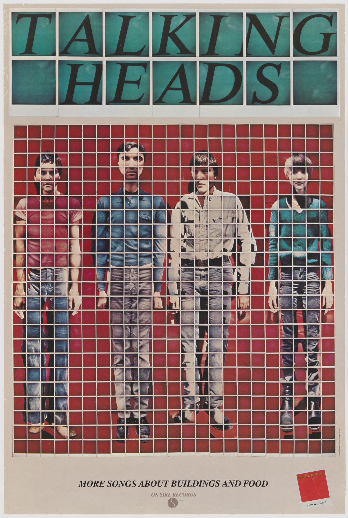 David Byrne, Jimmy DeSana. Talking Heads, More Songs About Buildings & Food. 1978