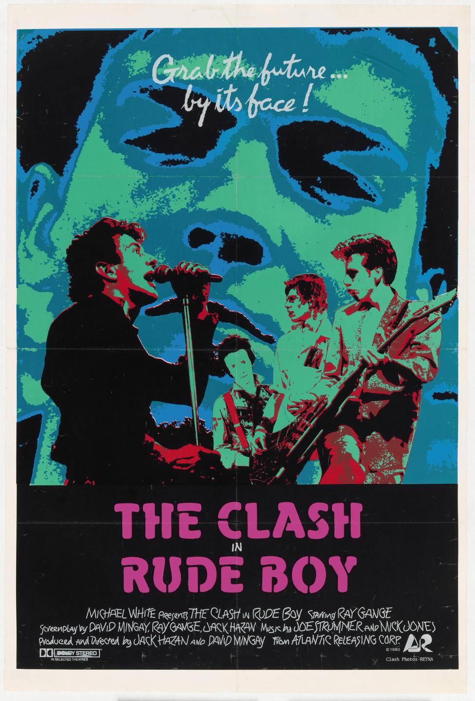 Unknown Designer. The Clash, Rude Boy, with Invitations to the New York Premiere and After-Party. 1981
