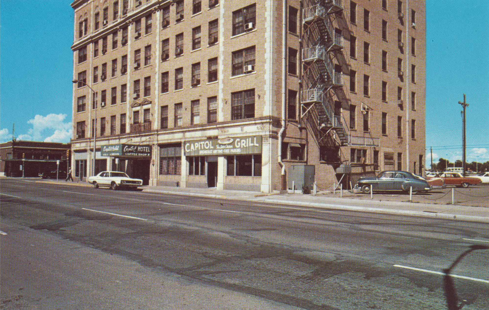 Stephen Shore. Capitol Hotel, 401 S. Pierce. 1971