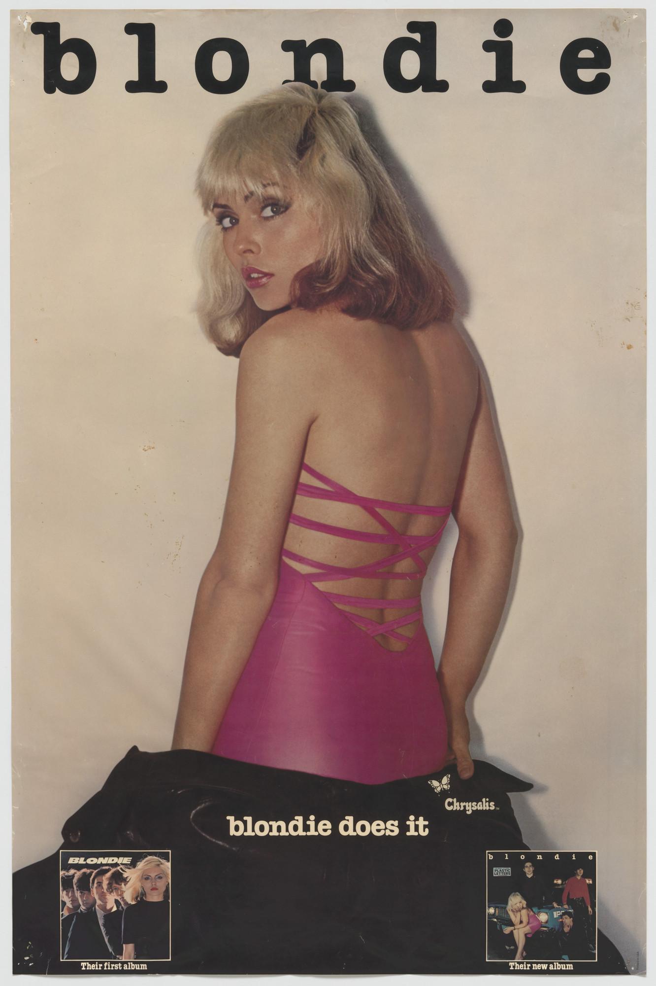 unknown designer blondie plastic letters 1977