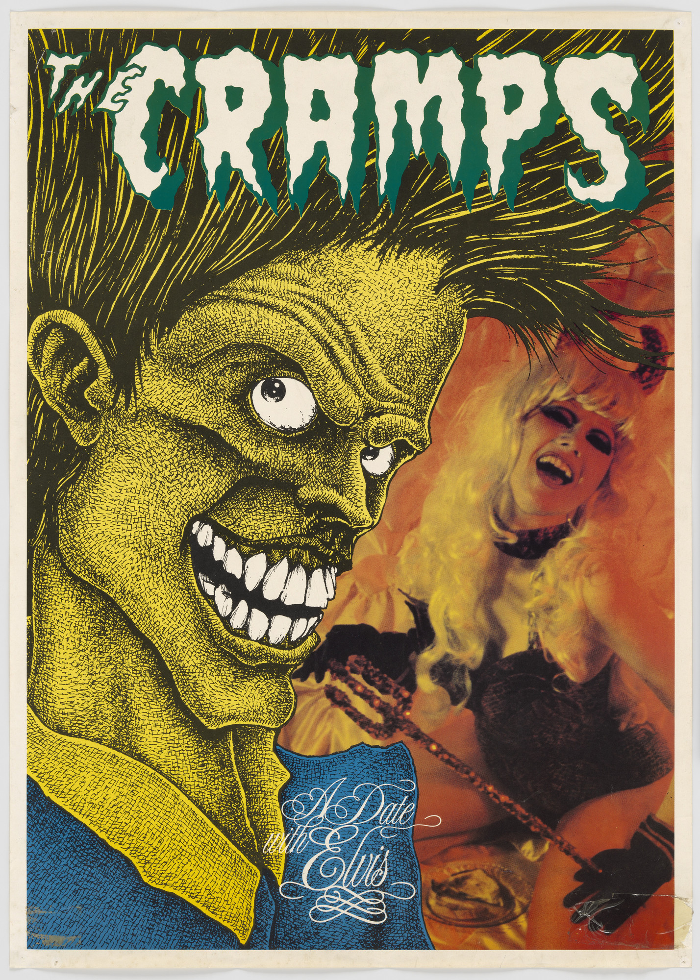 Unknown Designer. The Cramps, A Date with Elvis (Poster for album distributed by Big Beat Records, London). 1986