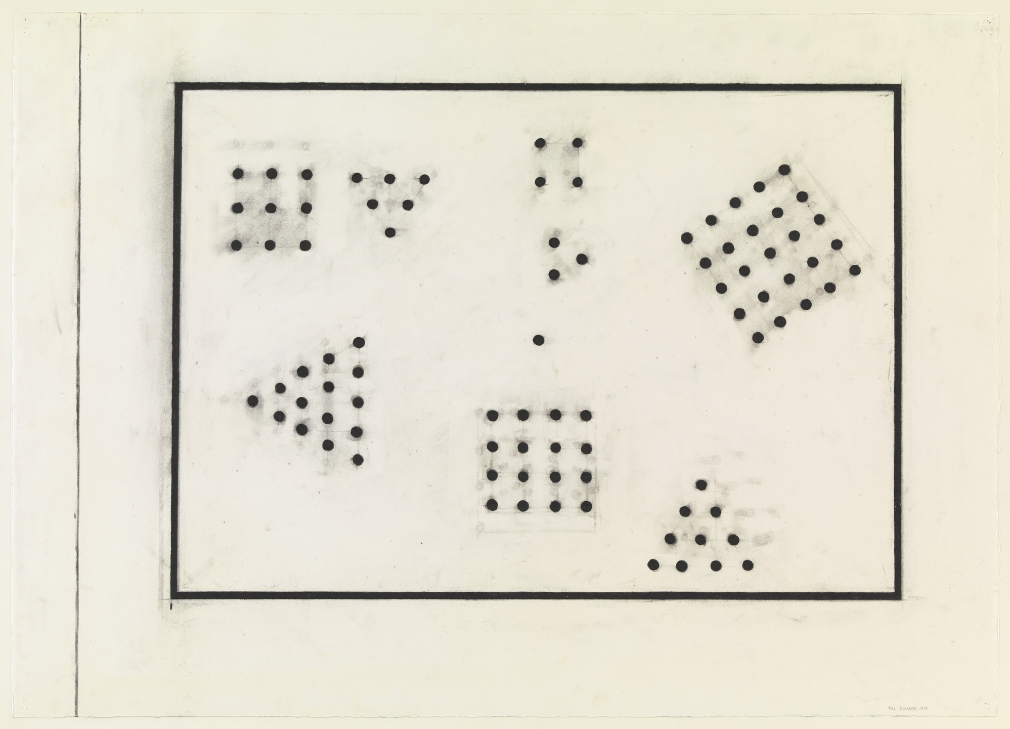 Mel Bochner. Triangle and Square: Points. 1974