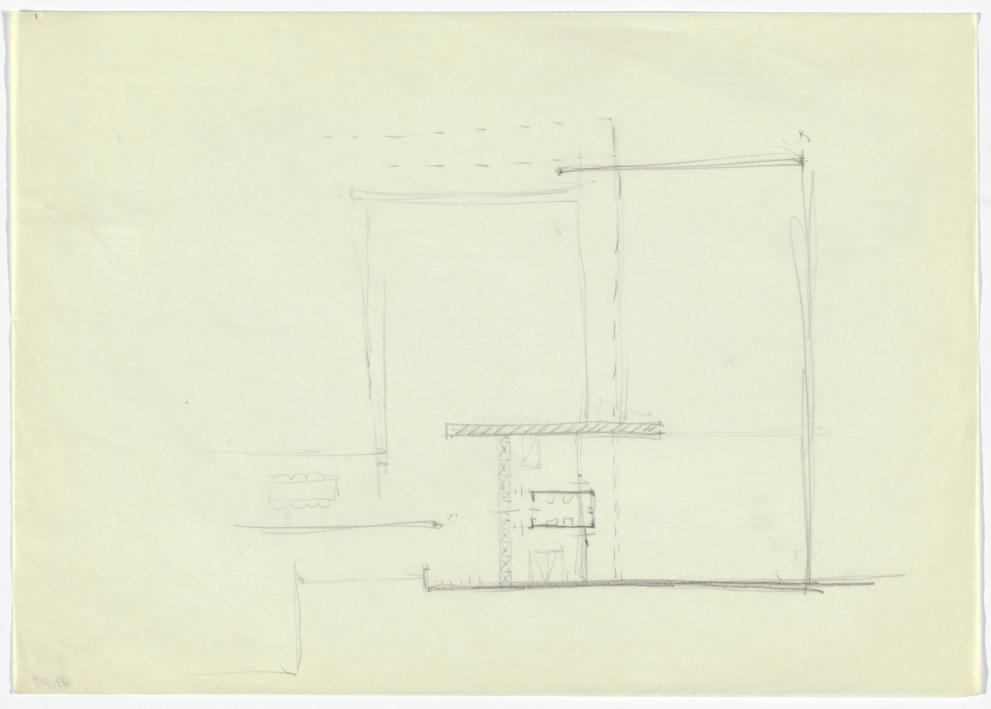 Ludwig Mies van der Rohe. Hubbe-related Study. 1934-1935