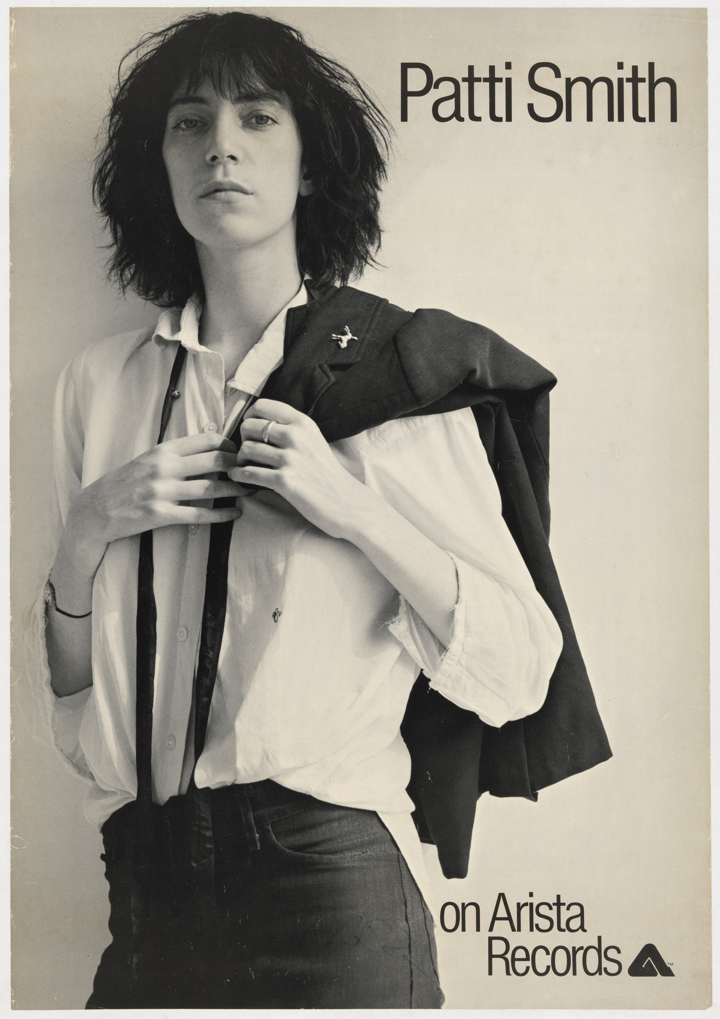 Bob Heimall, Robert Mapplethorpe. Patti Smith, Horses (Poster for album distributed by Arista Records, New York). 1975