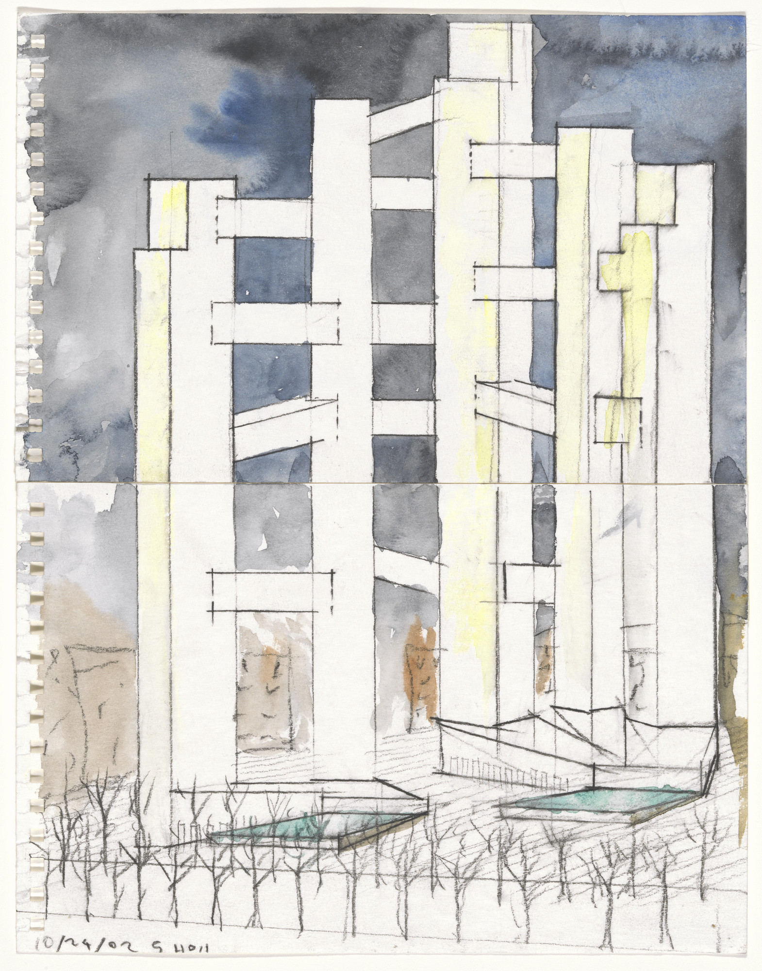 Steven Holl. World Trade Center Project, New York, NY (Perspective). 2002