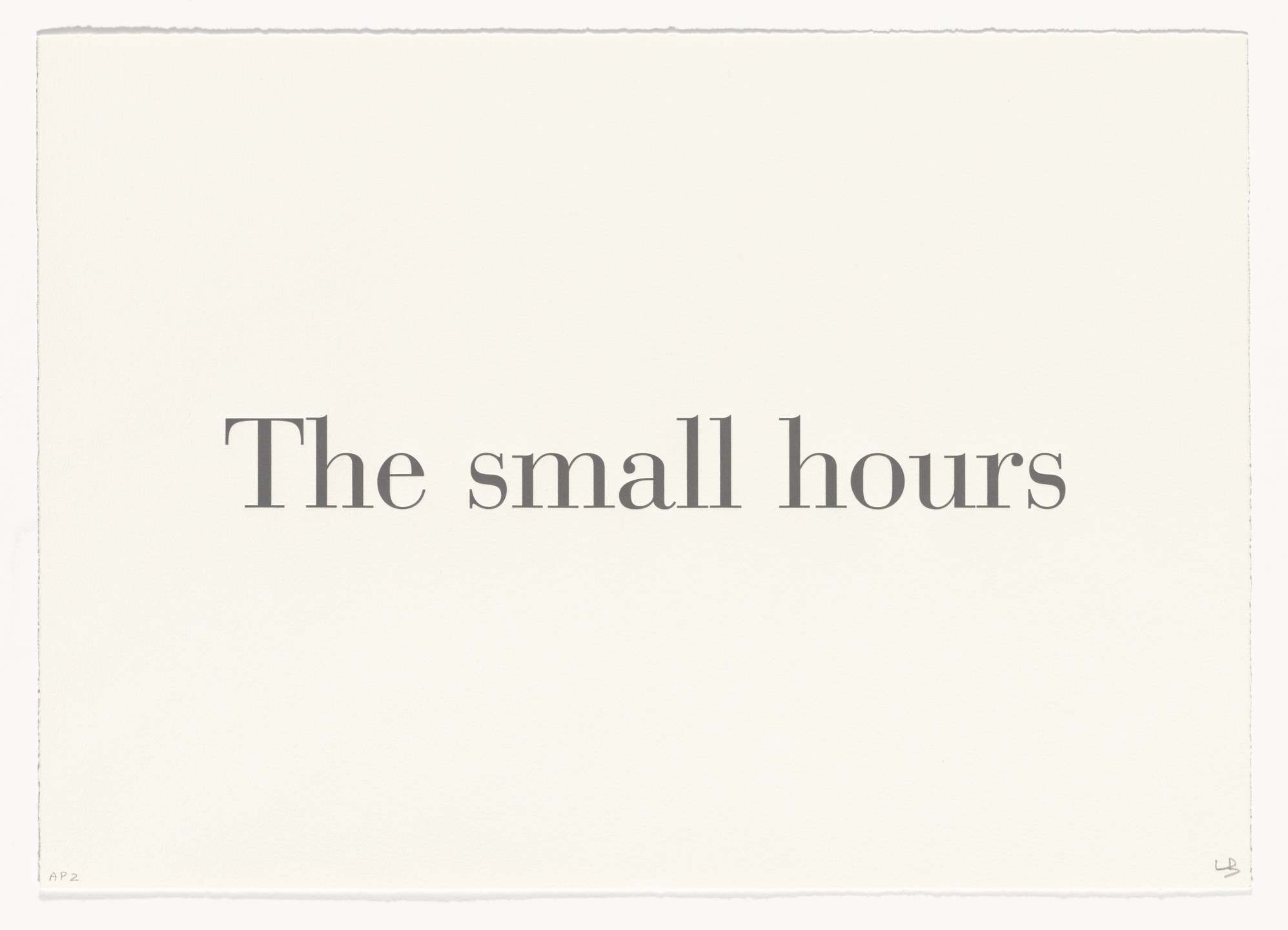 Louise Bourgeois. The Small Hours, no. 2 of 9, from the series, What Is the Shape of This Problem?. 1999