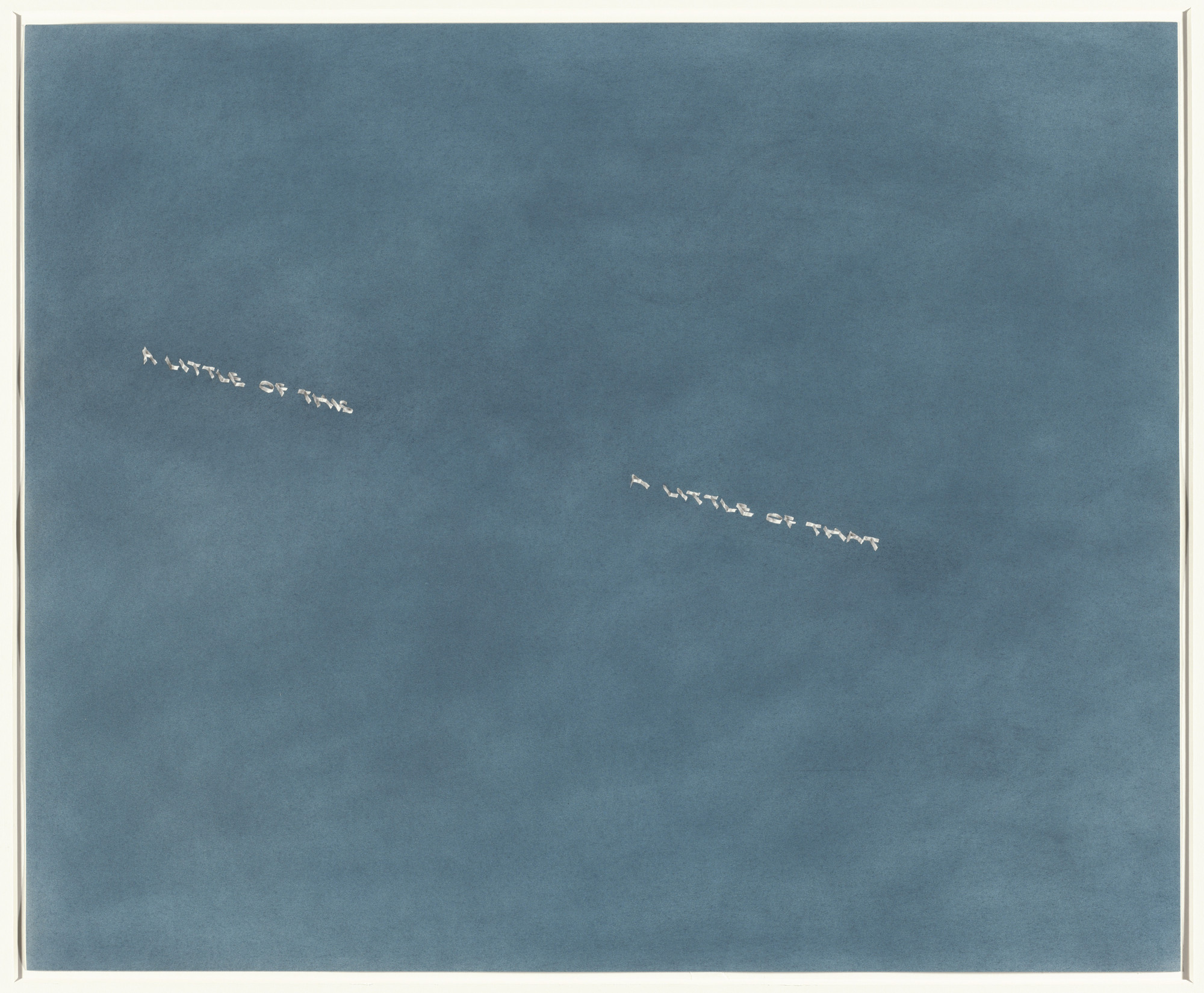 Edward Ruscha. A Little of This, A Little of That. 1975