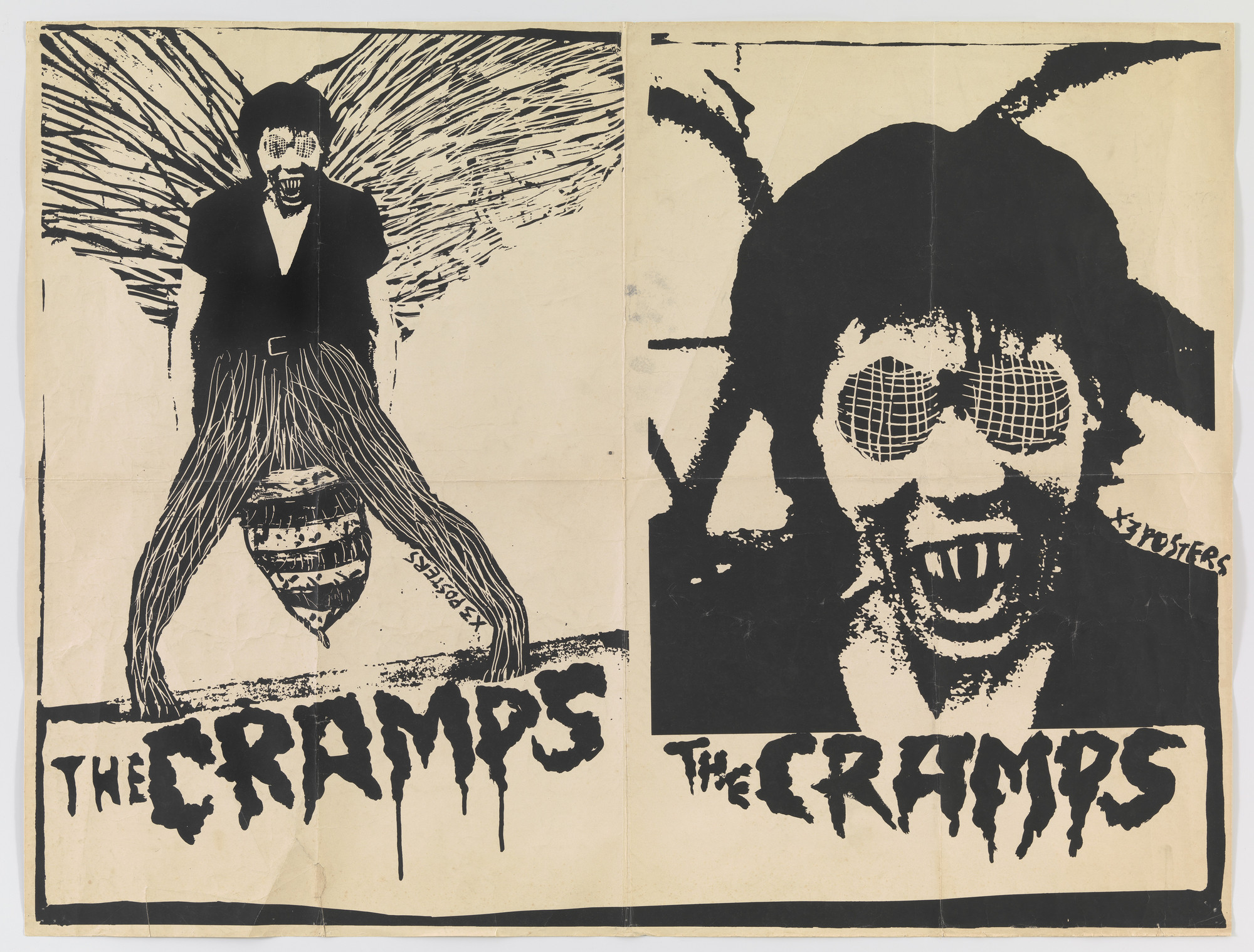 X3 Studios, David Arnoff. The Cramps (Poster for The Human Fly Tour). 1978