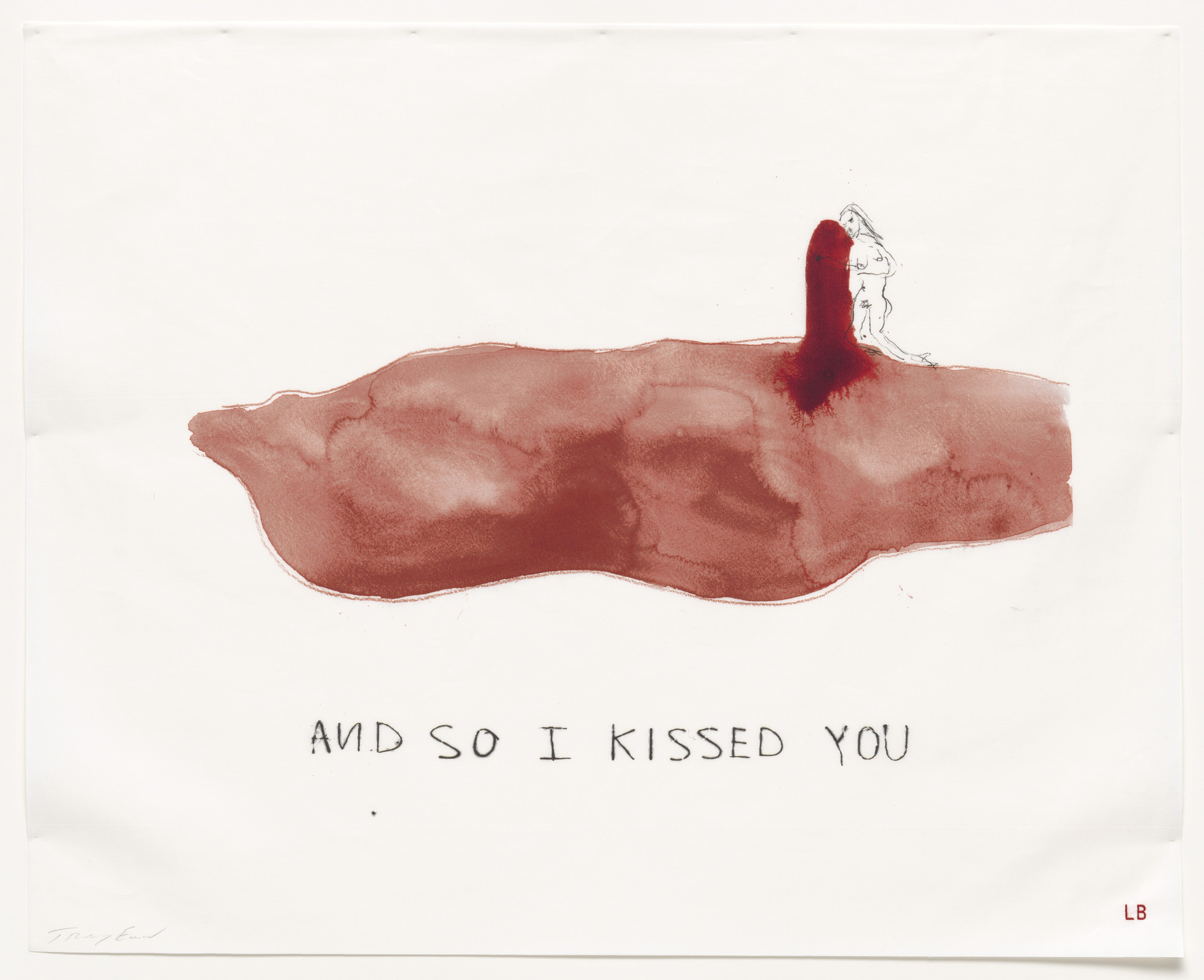 Louise Bourgeois, Tracey Emin. And So I Kissed You, no. 4 of 16, from the series, Do Not Abandon Me. 2009-2010