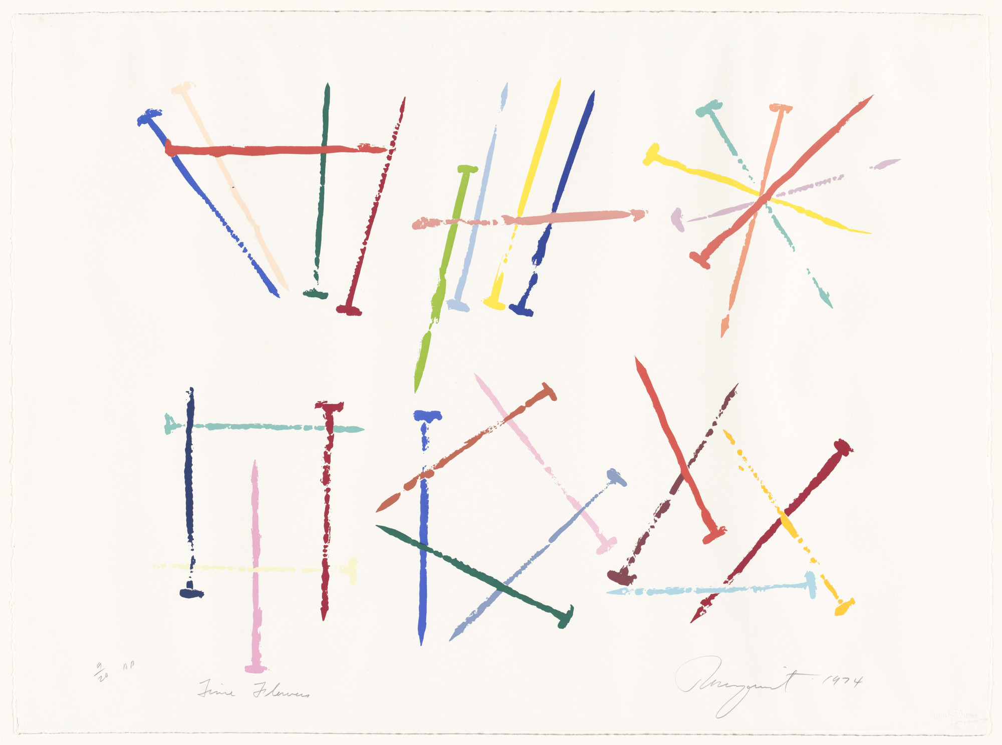 James Rosenquist. Time Flowers from the series Nails. 1974