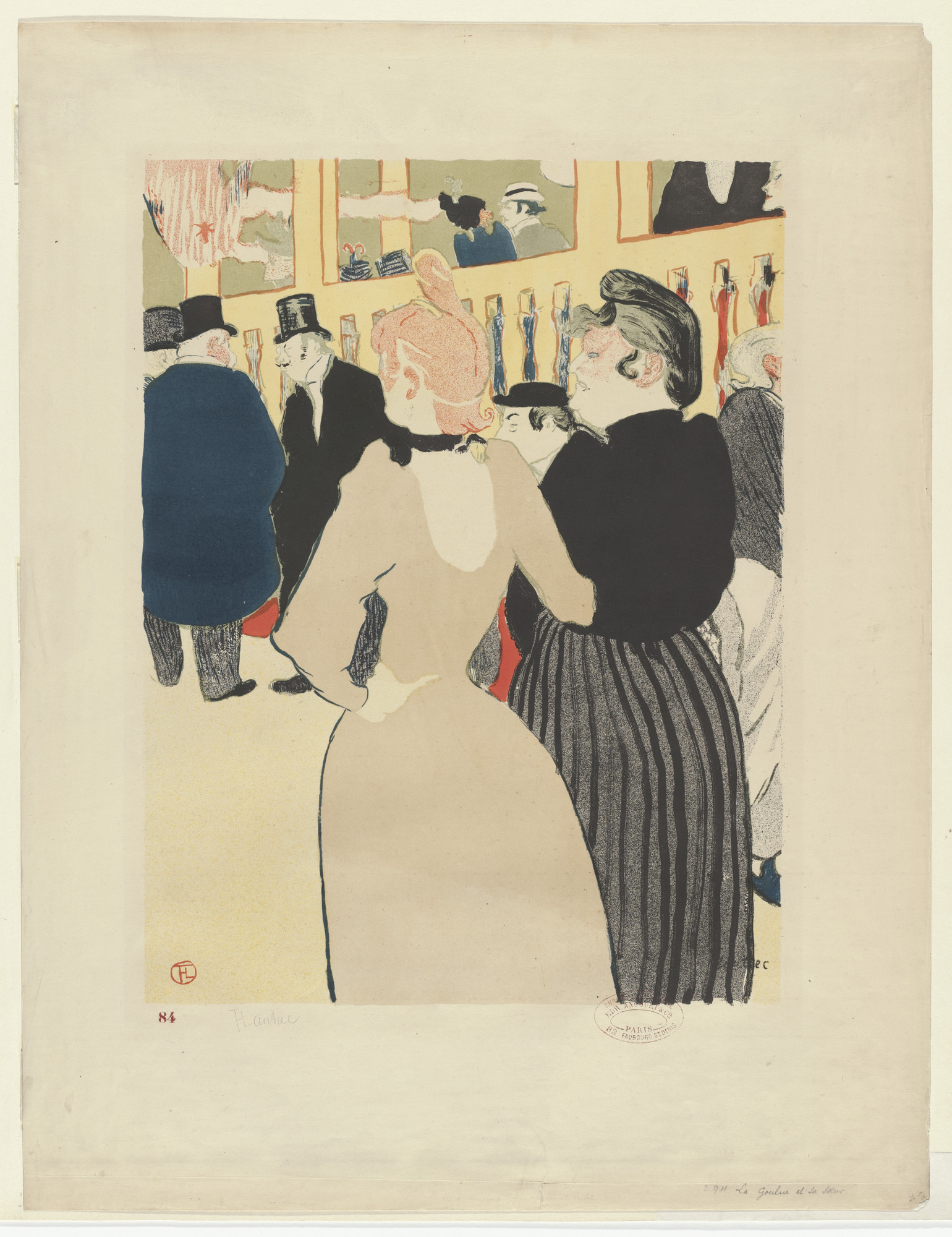 Henri de Toulouse-Lautrec. At the Moulin Rouge, La Goulue and her Sister (Au Moulin Rouge, La Goulue et sa sœur). 1892