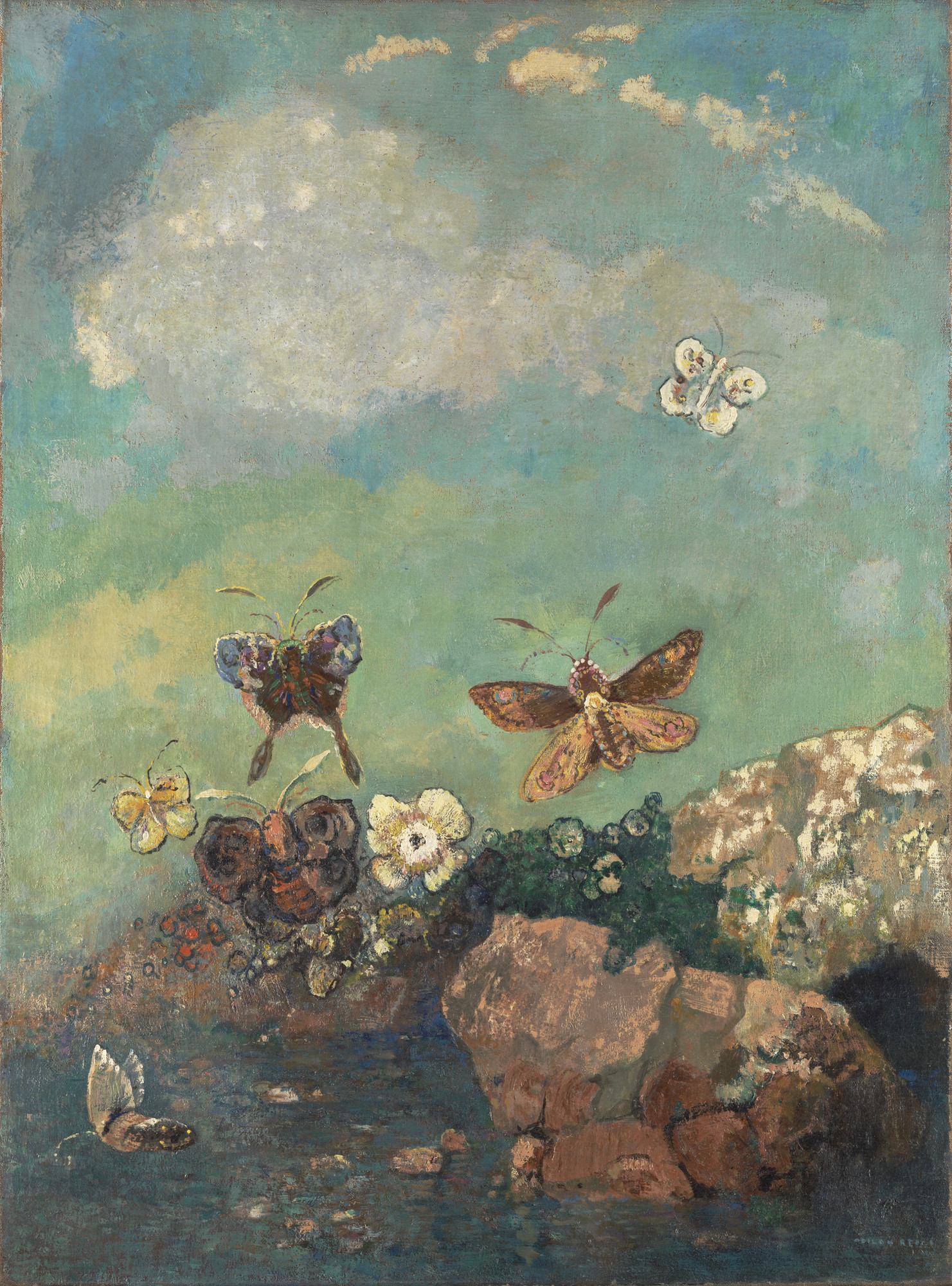 Odilon Redon. Butterflies. c. 1910 | MoMA