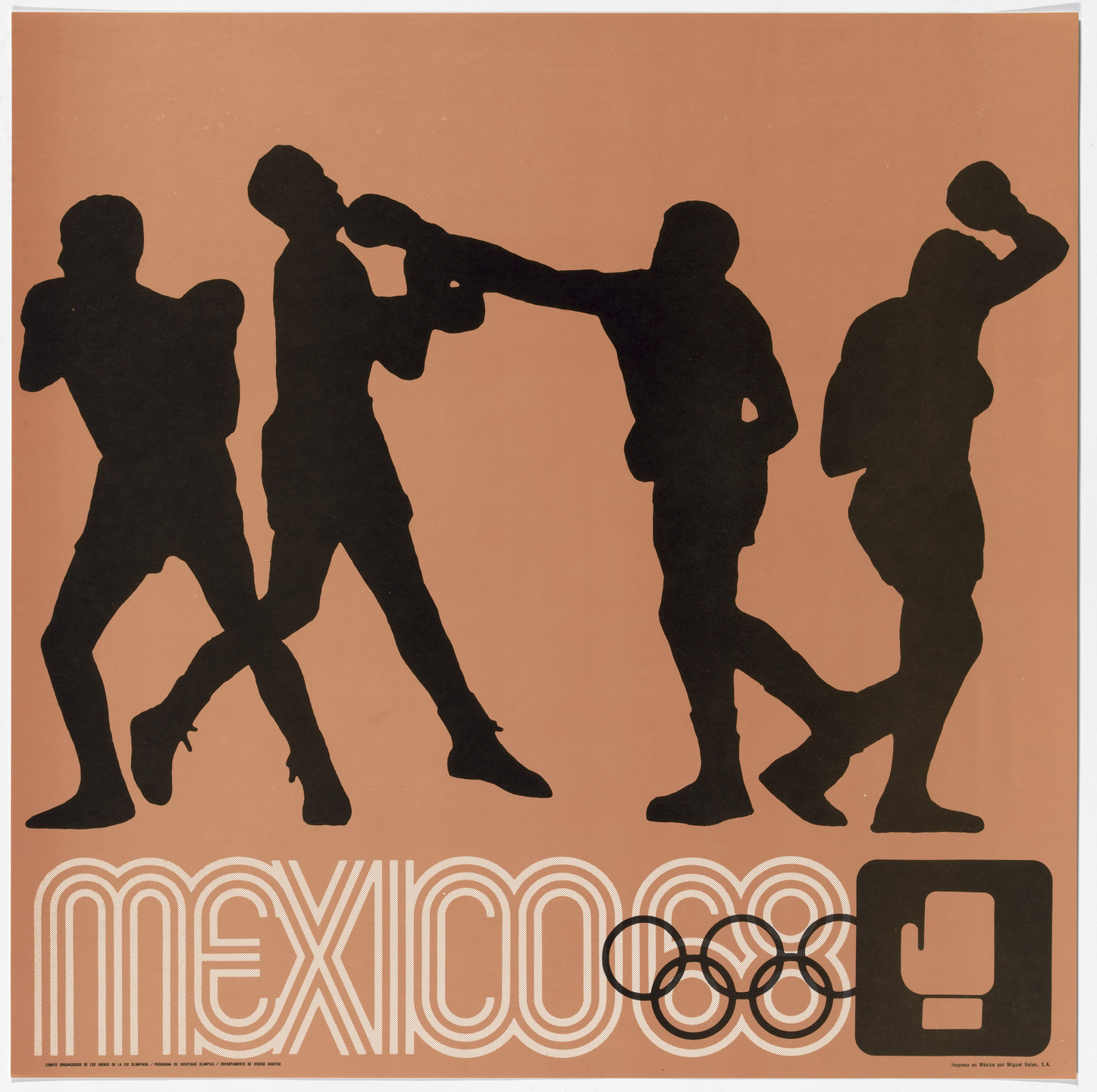 Lance Wyman, Department of Publications and Urban Design, Organizing Committee of the XIX Olympiad. Mexico City 1968 Olympics: Boxing. c. 1968