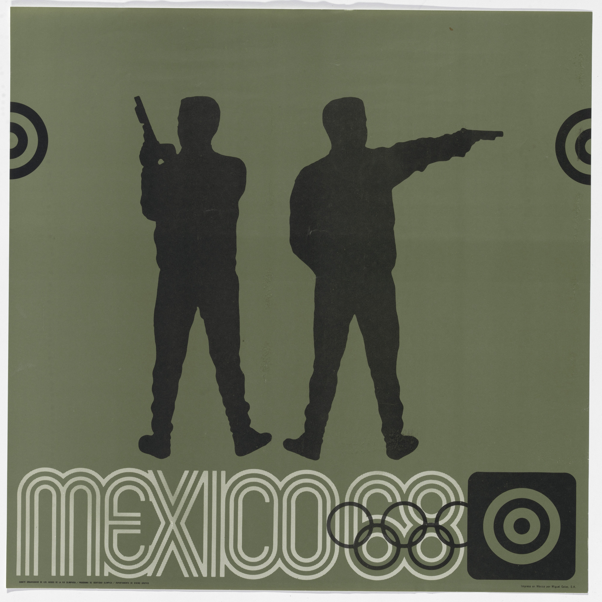 Lance Wyman, Department of Publications and Urban Design, Organizing Committee of the XIX Olympiad. Mexico City 1968 Olympics: Shooting. c. 1968