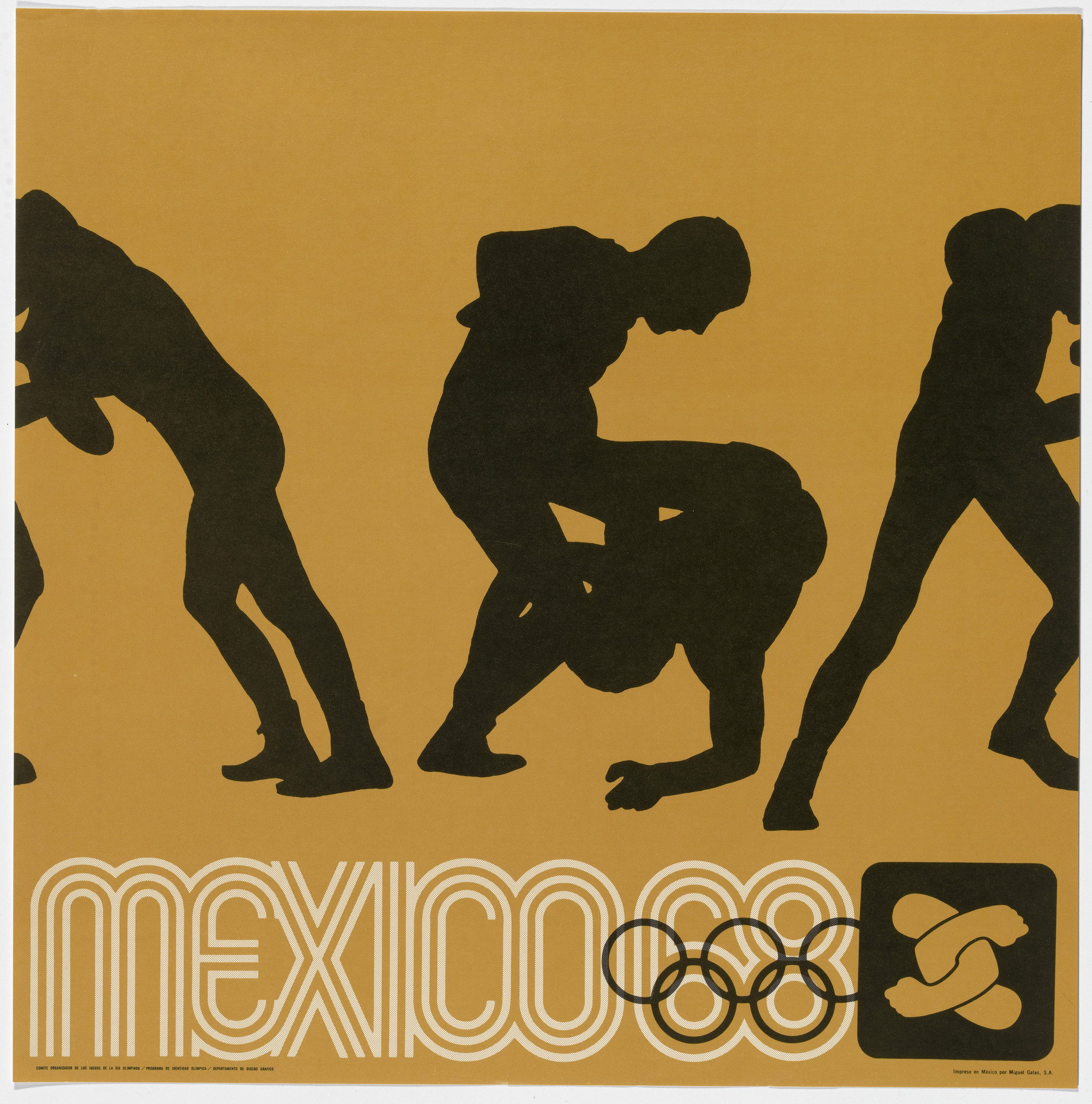 Lance Wyman, Department of Publications and Urban Design, Organizing Committee of the XIX Olympiad. Mexico City 1968 Olympics: Wrestling. c. 1968