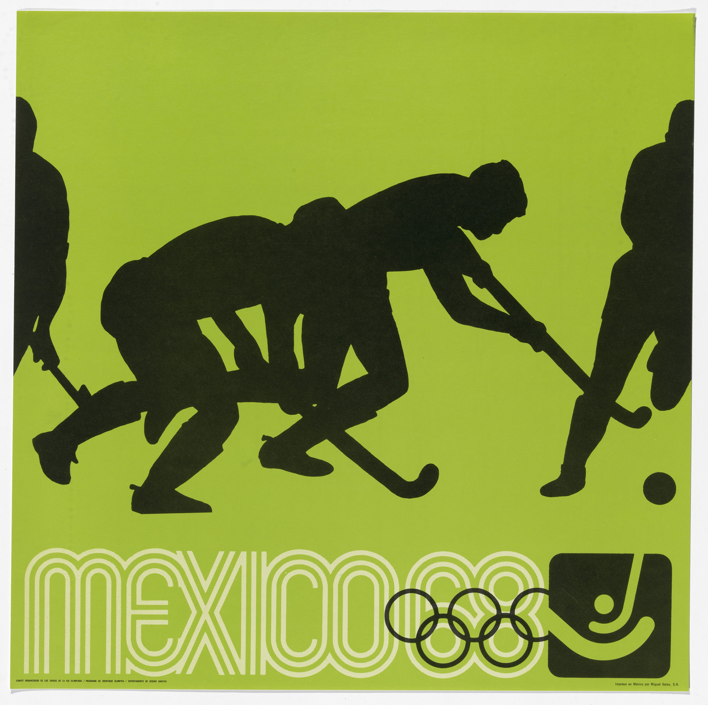 Lance Wyman, Department of Publications and Urban Design, Organizing Committee of the XIX Olympiad. Mexico City 1968 Olympics: Field Hockey. c. 1968
